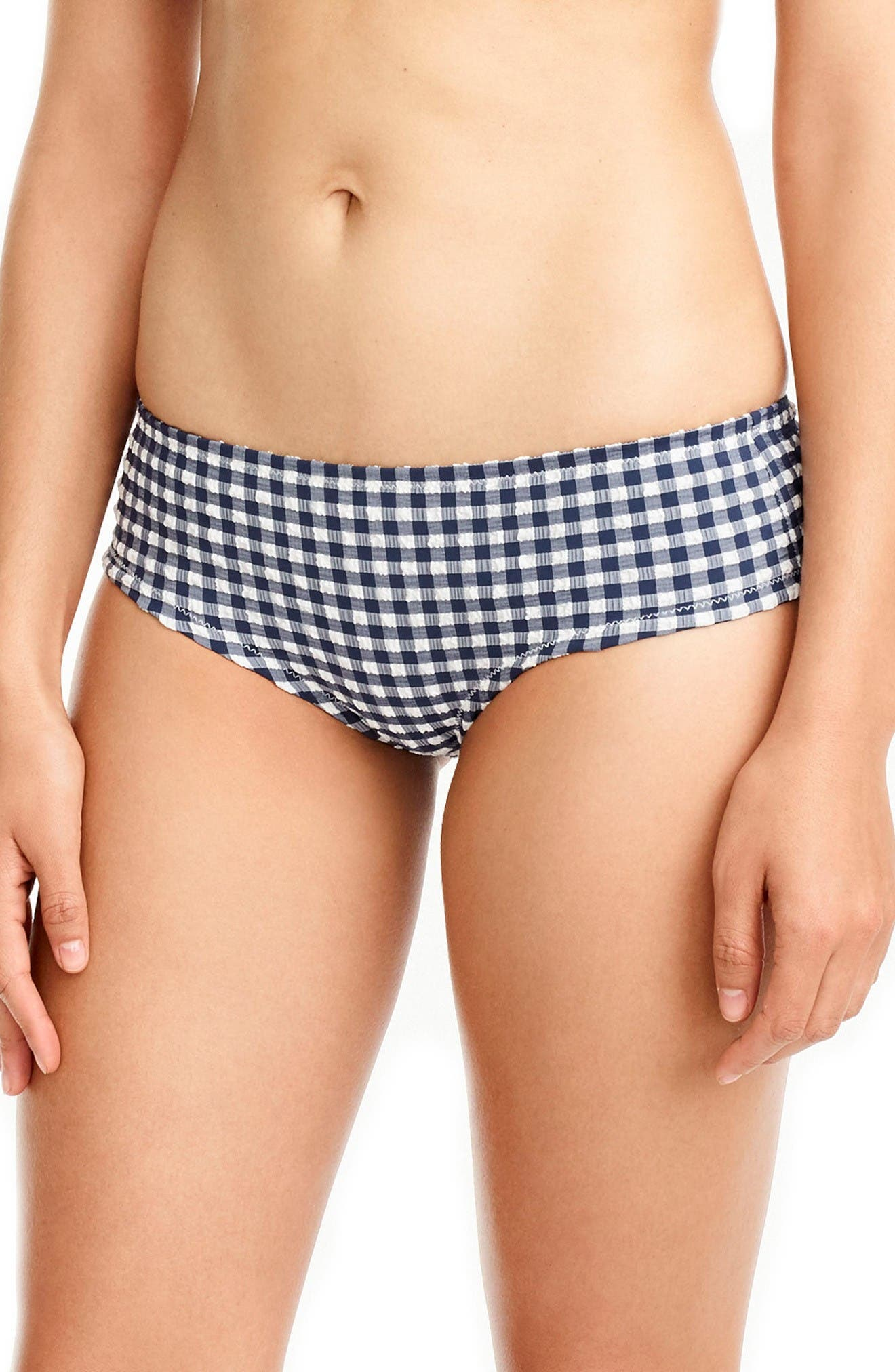 Main Image - J.Crew Gingham Boy Short Bottoms