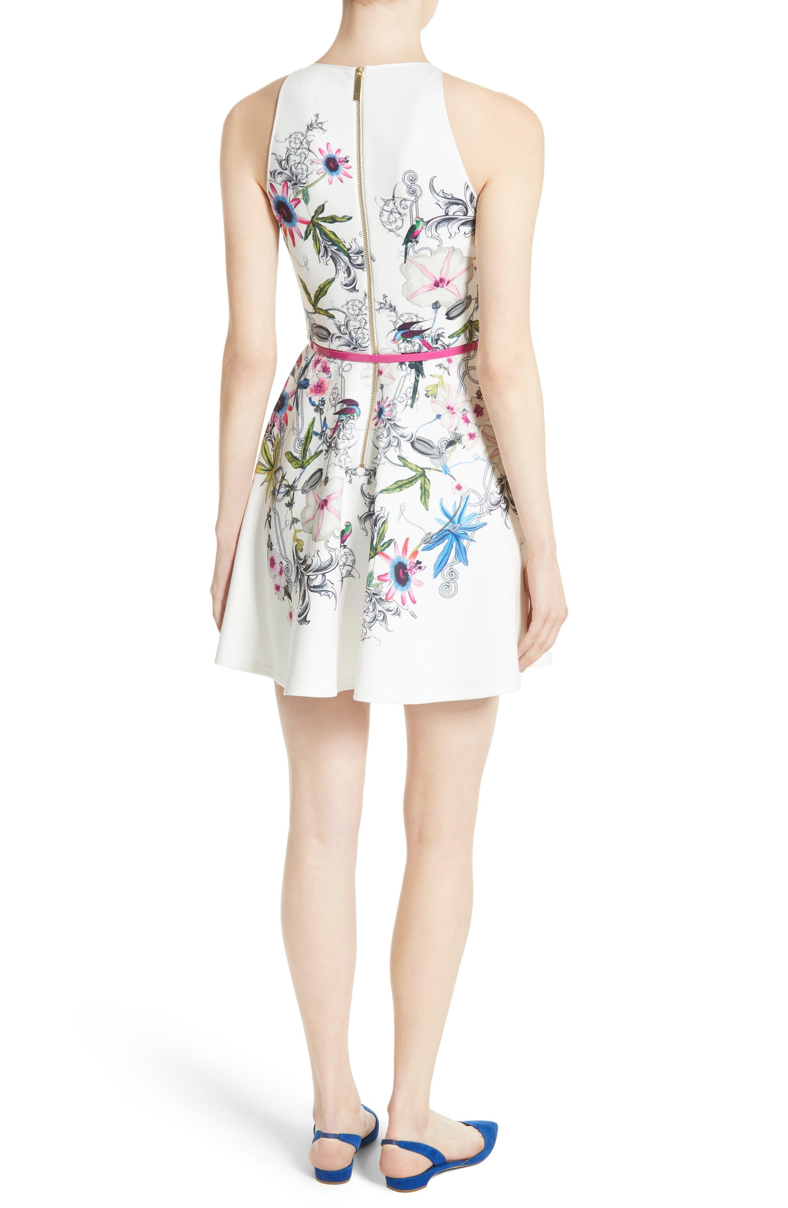 Alternate Image 2  - Ted Baker London Samm Floral Fit & Flare Dress