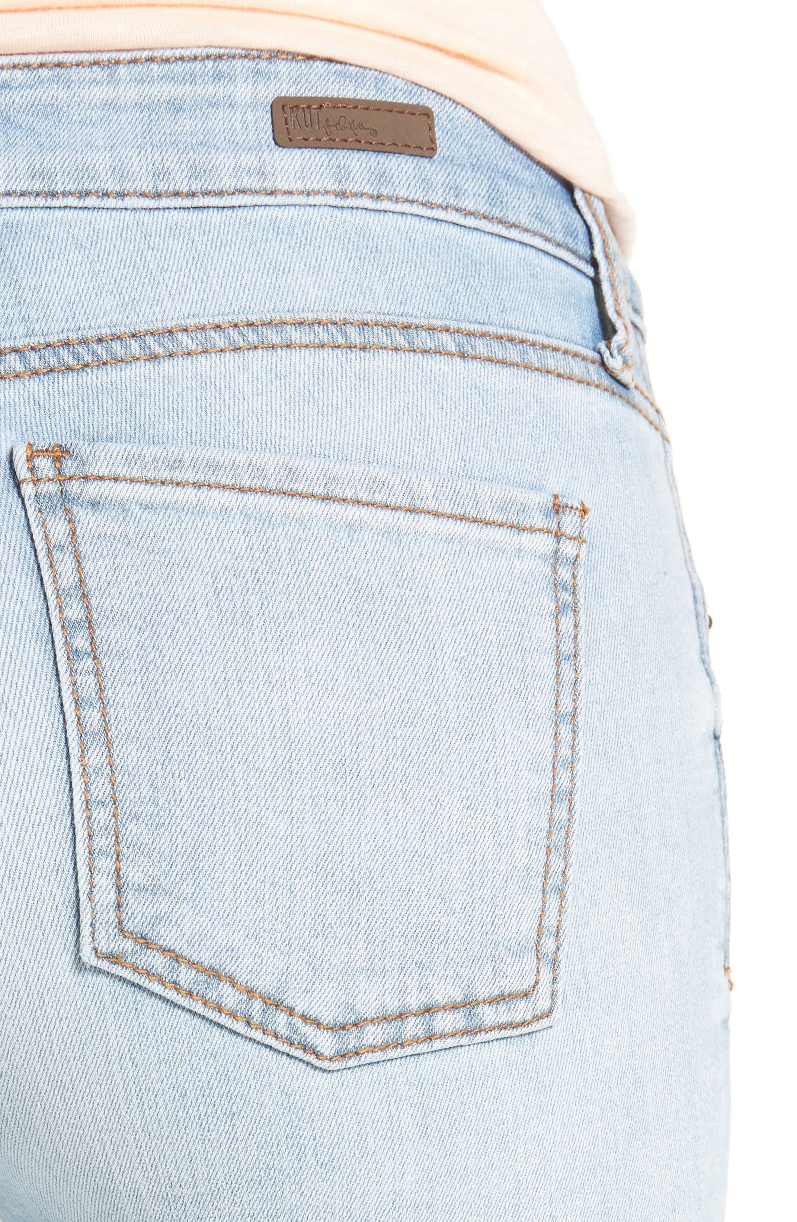 Alternate Image 4  - KUT from the Kloth Mia Toothpick Skinny Jeans (Expectation)