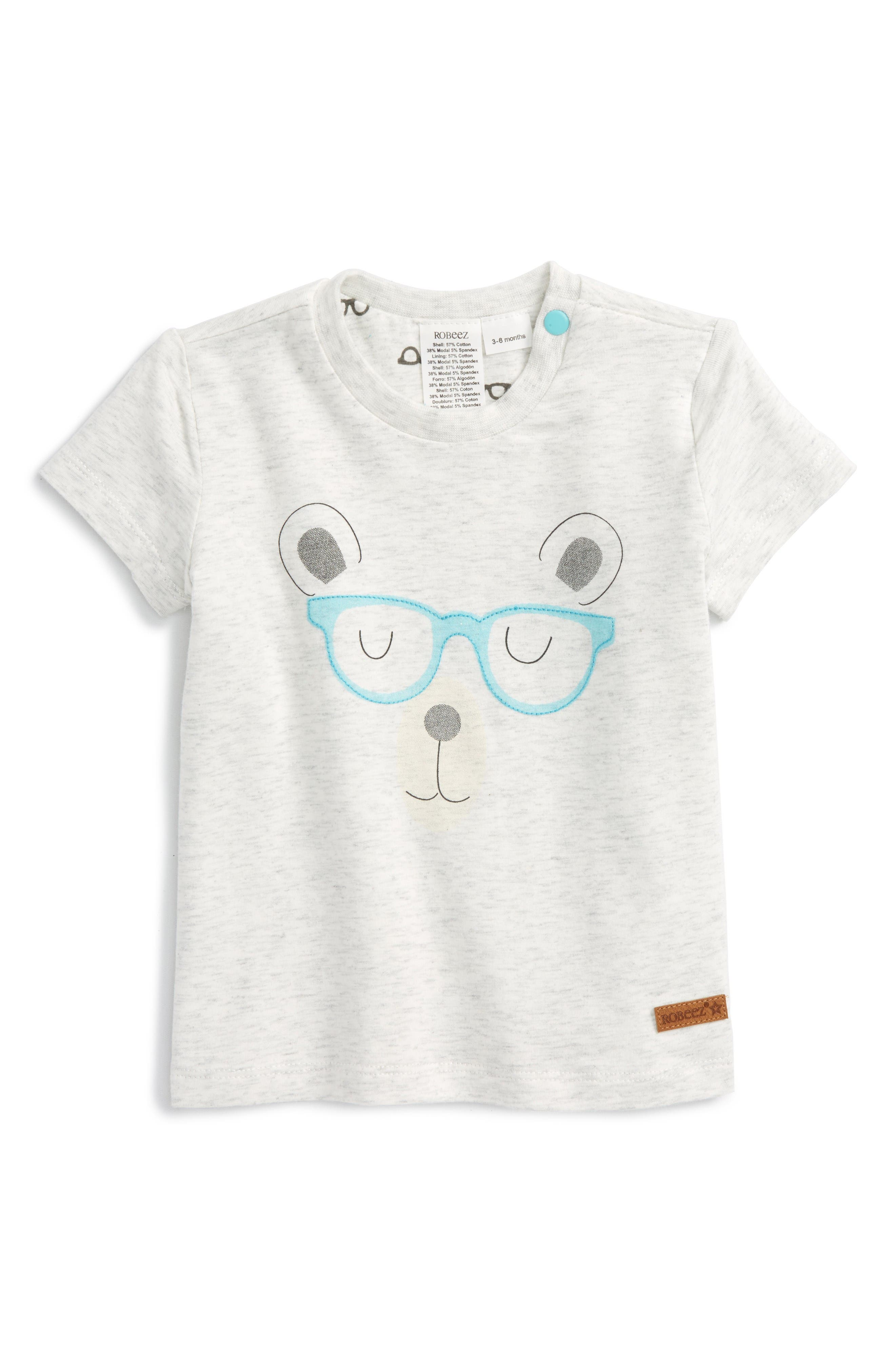 ROBEEZ® Brainy Bear Graphic Reversible T-Shirt