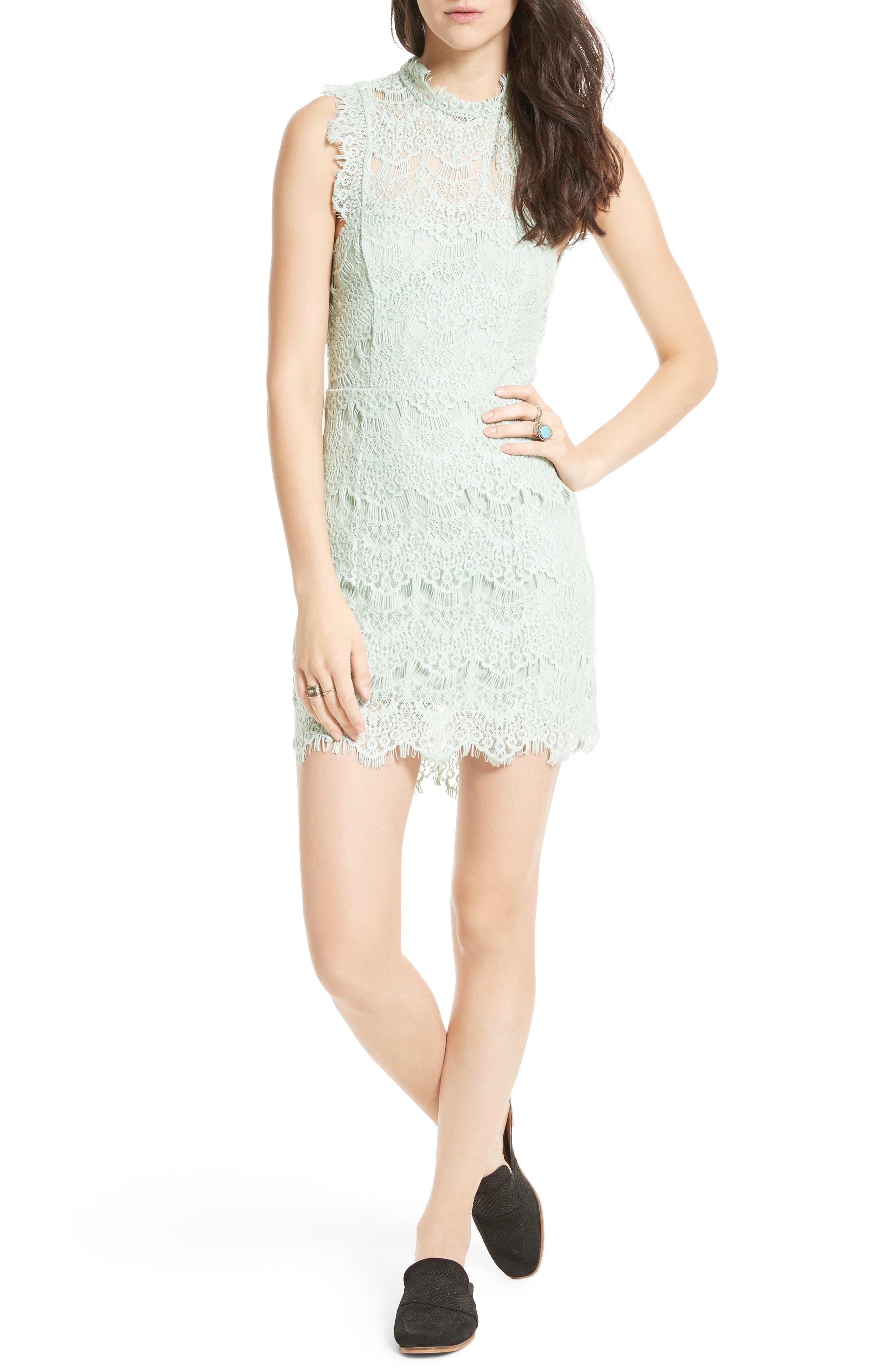 Free People Daydream Lace Minidress