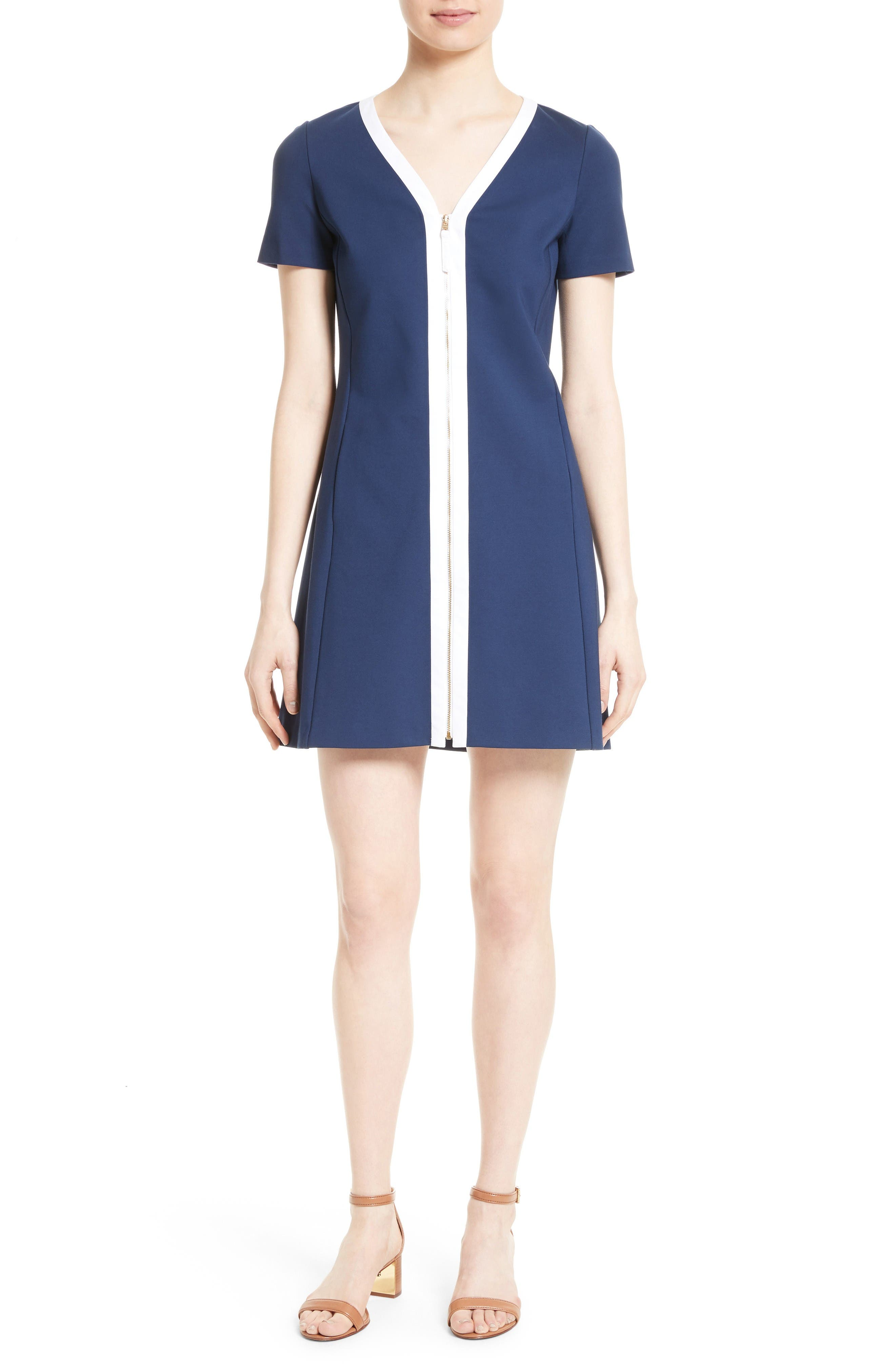 Tory Burch Kimberly Zip Front A-Line Dress