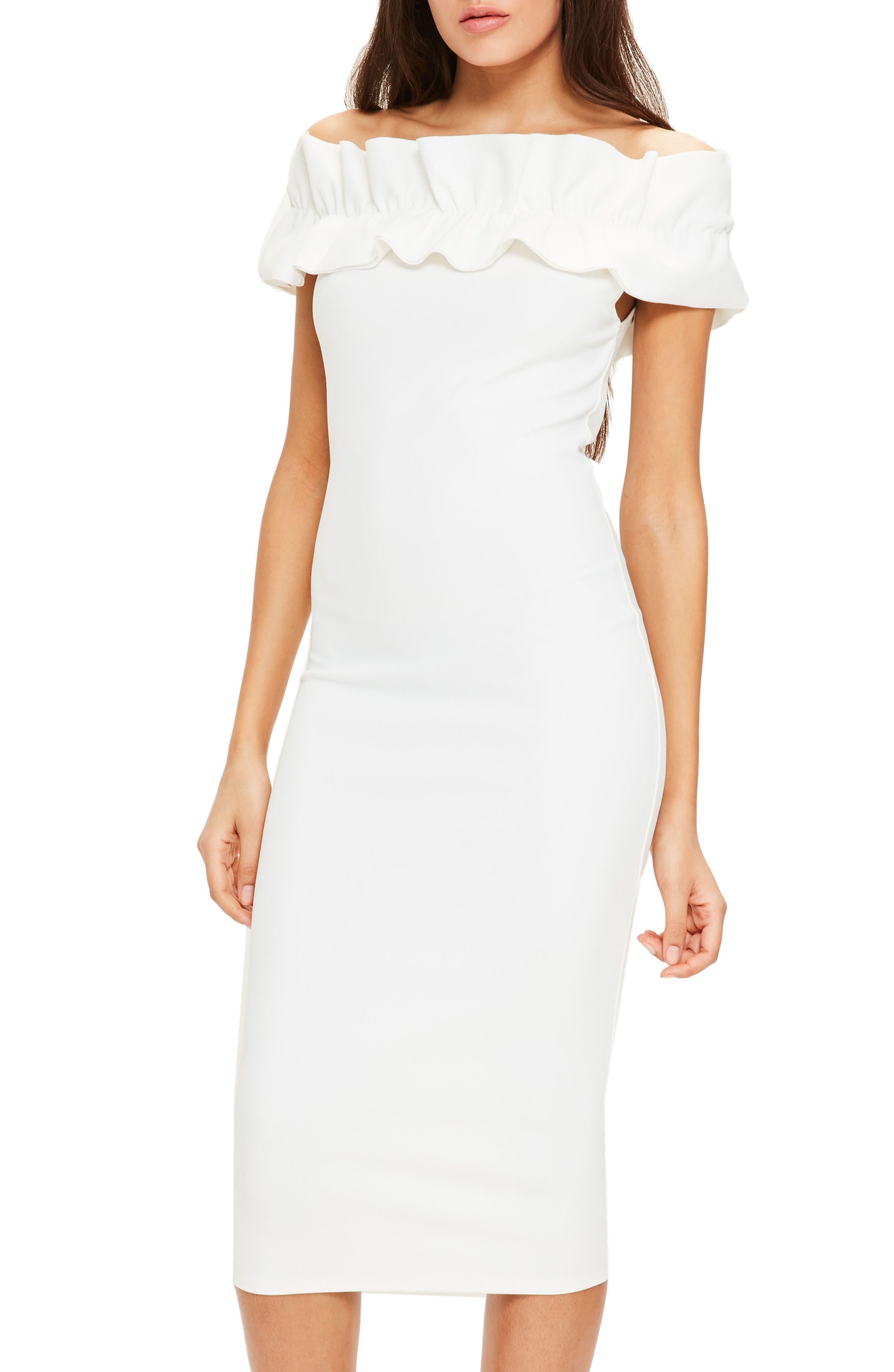 Alternate Image 1 Selected - Missguided Bardot Off the Shoulder Dress