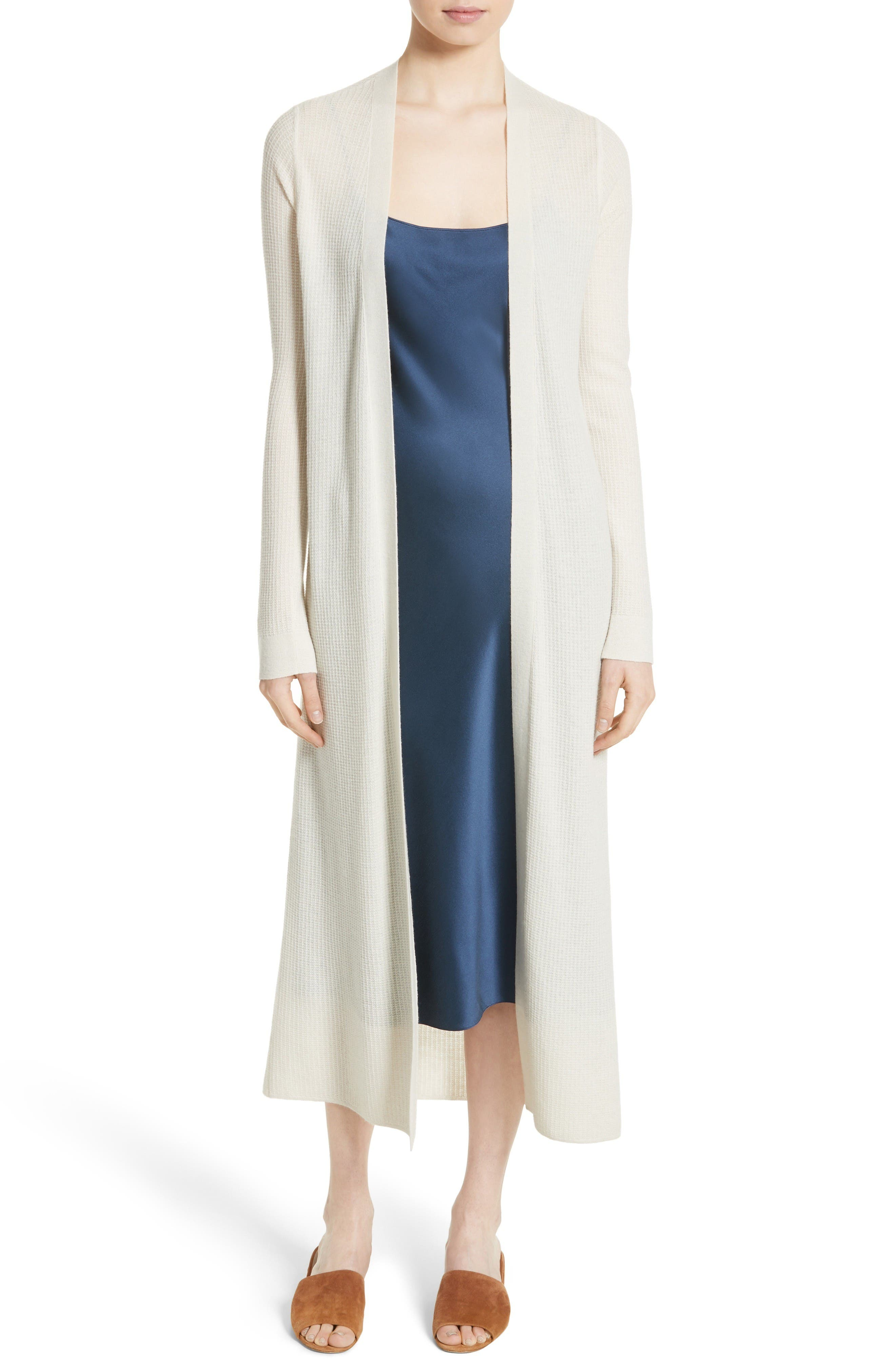 Theory Torina D Light Cashmere Duster Cardigan