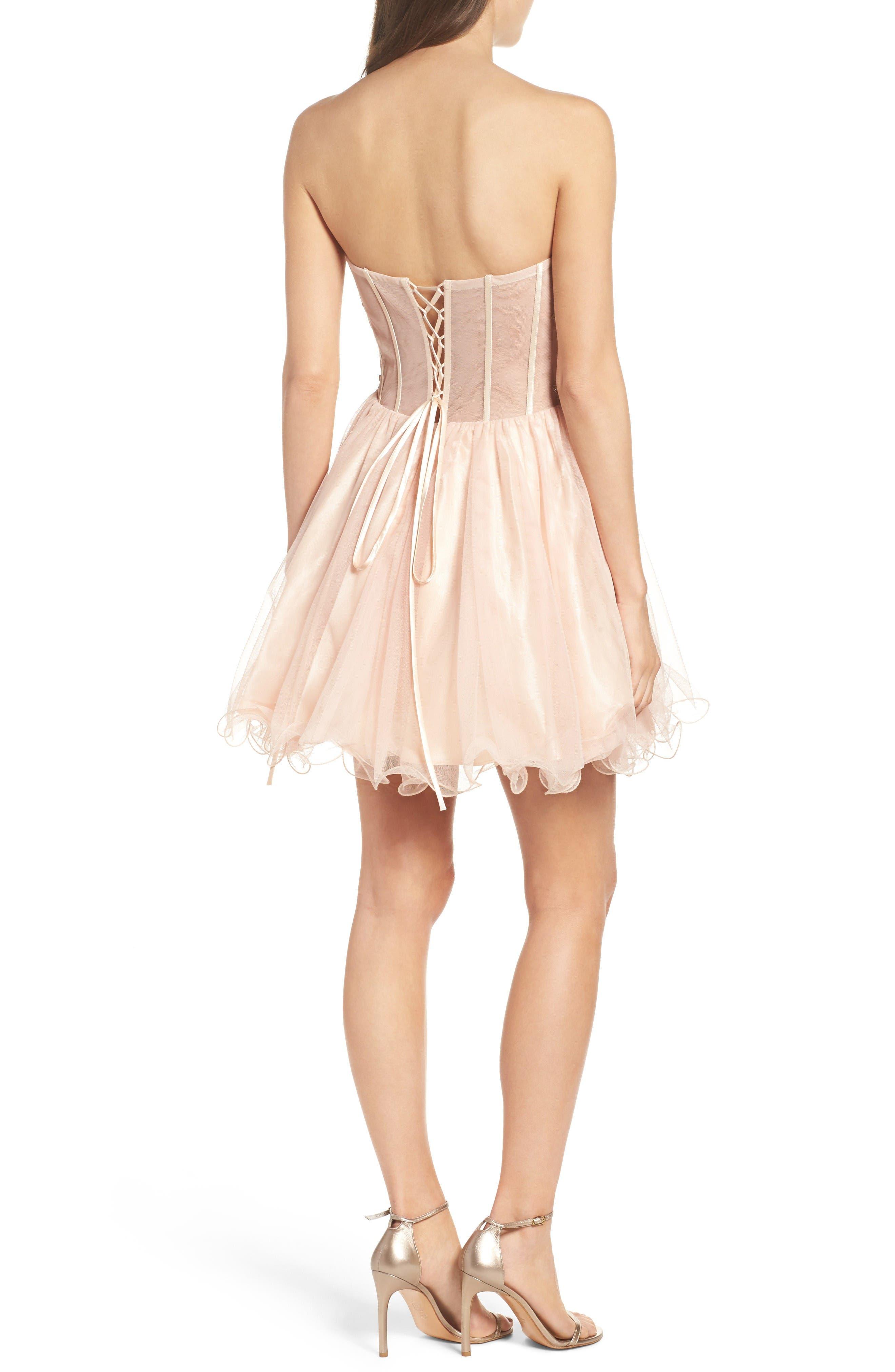 Alternate Image 2  - Blondie Nites Strapless Bustier Dress