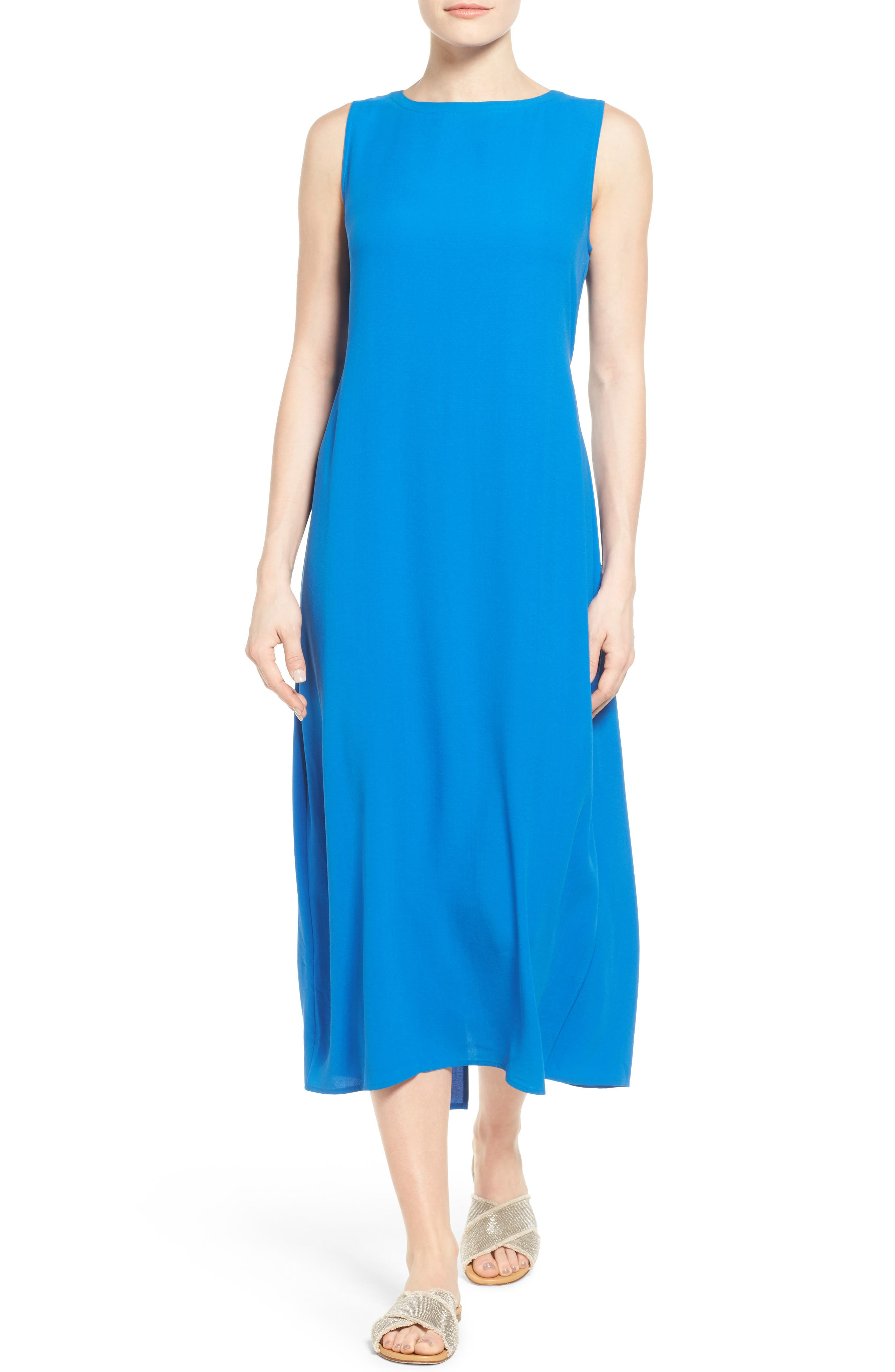 Eileen Fisher Silk Midi Dress (Regular & Petite)