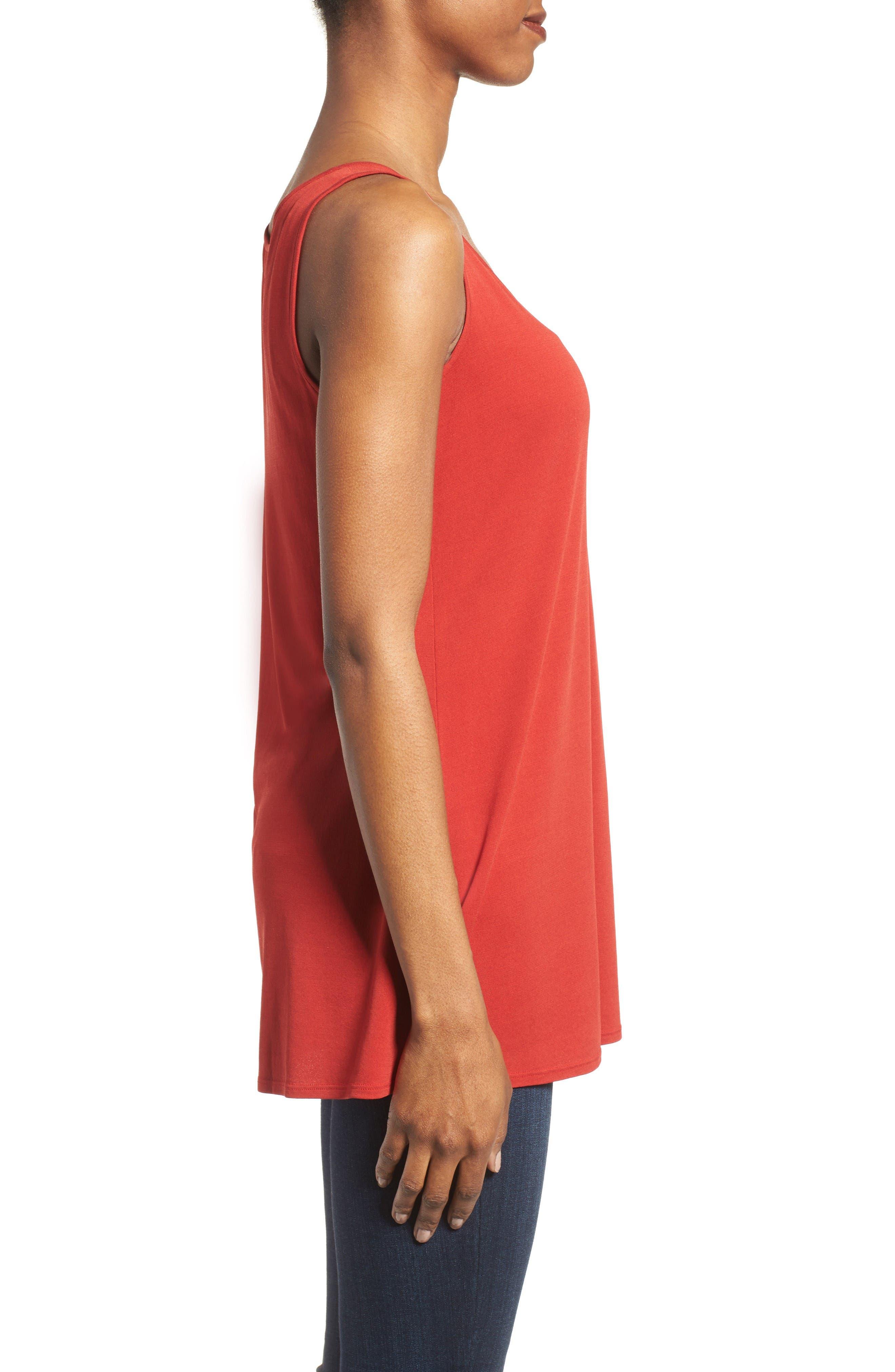 Alternate Image 3  - Eileen Fisher Long Silk Tank (Regular & Petite)