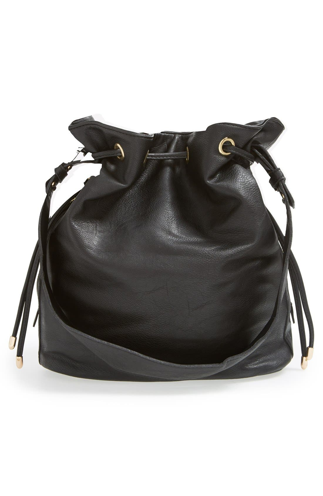 Alternate Image 3  - Sole Society 'Logan' Faux Leather Bucket Bag