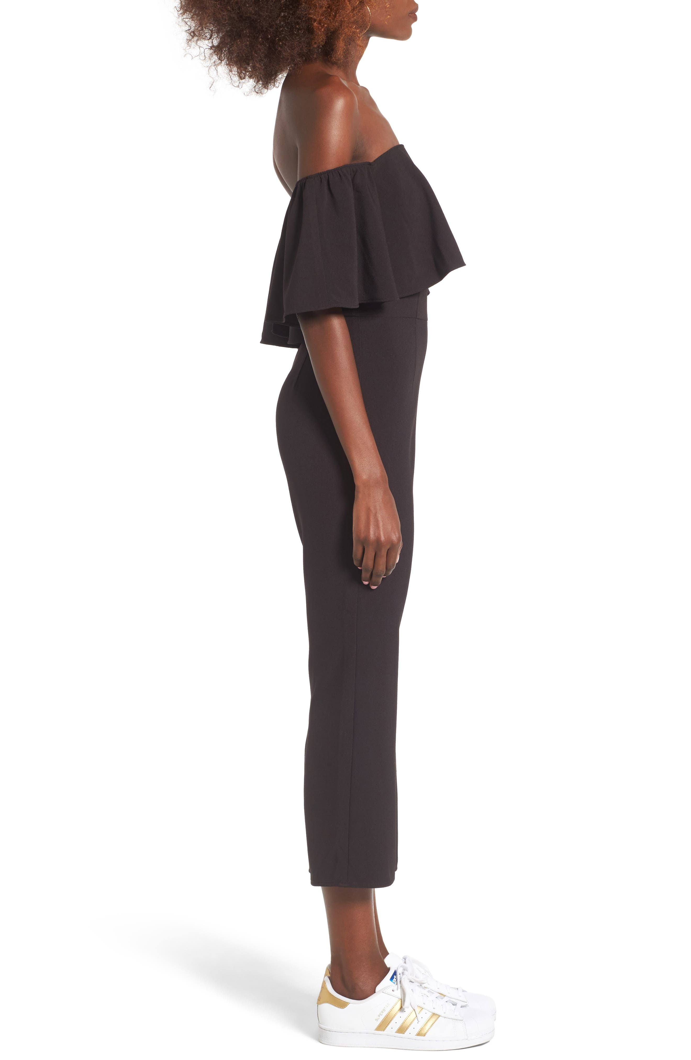 Alternate Image 3  - Leith Strapless Off the Shoulder Jumpsuit