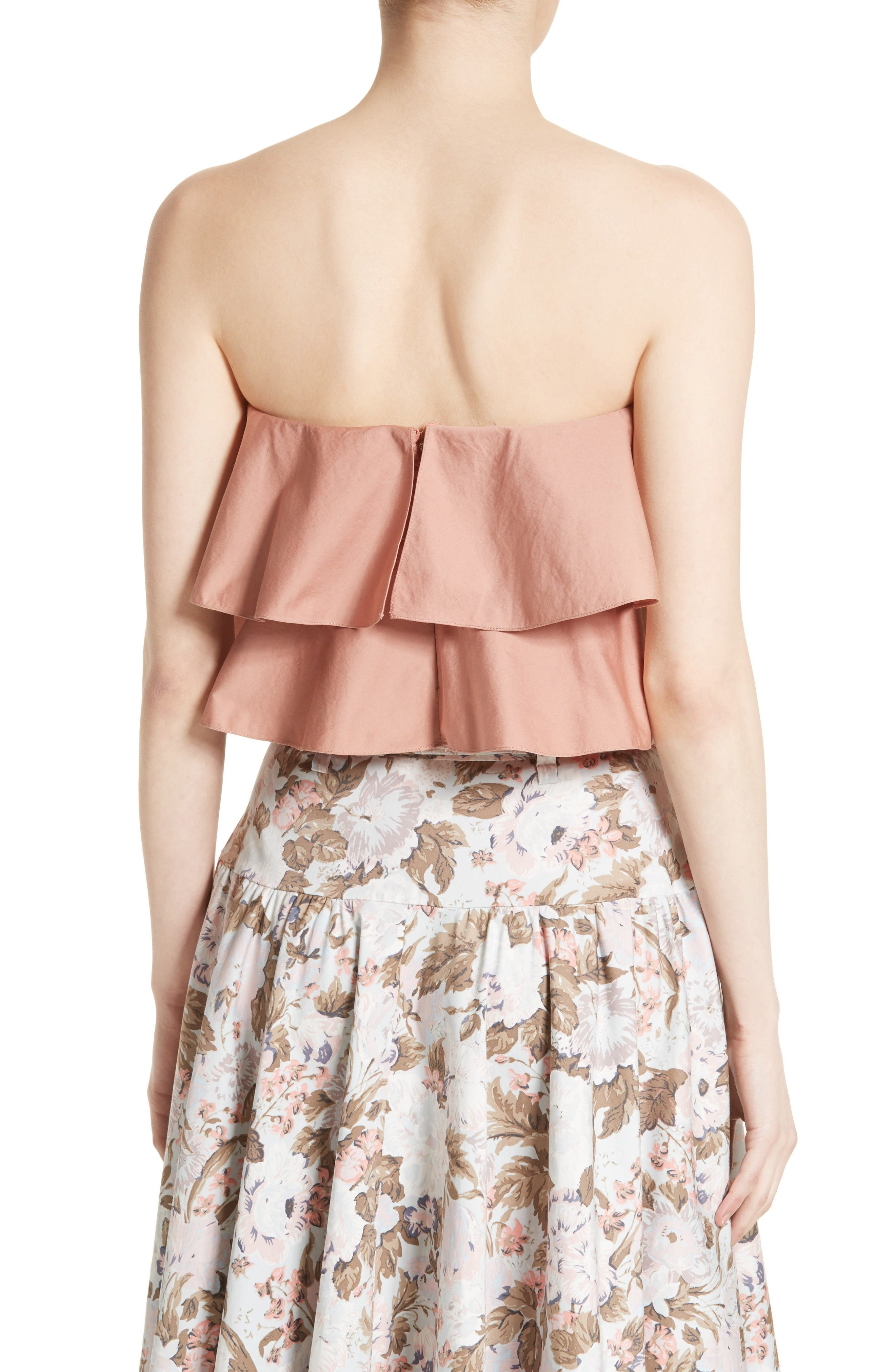 Alternate Image 2  - Rebecca Taylor Strapless Crop Top