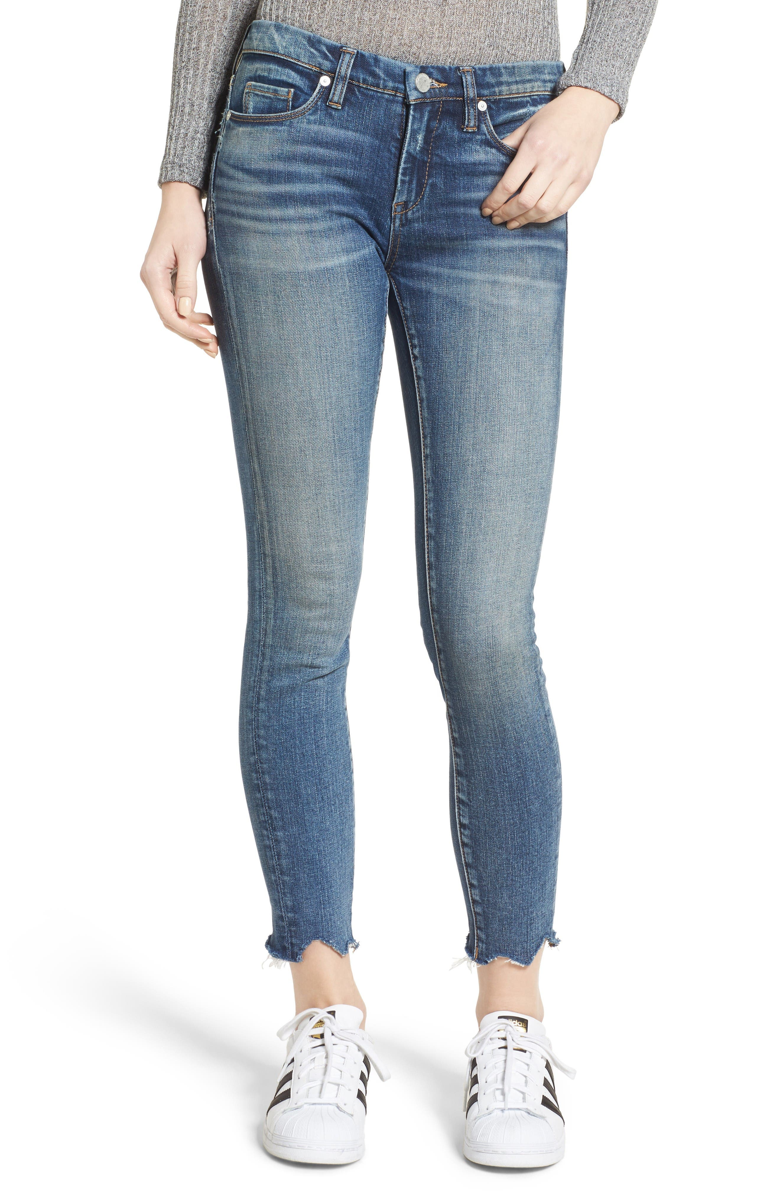 Alternate Image 1 Selected - BLANKNYC Ankle Skinny Jeans (Amped Out)