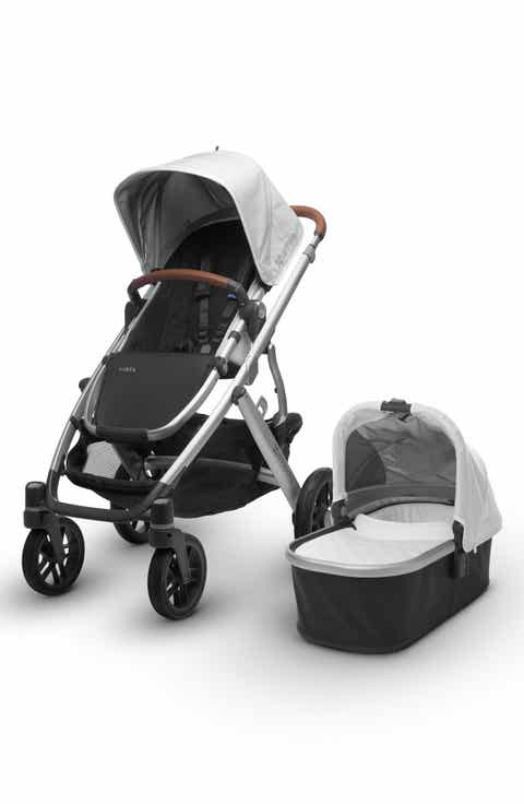 UPPAbaby 2017 VISTA Aluminum Frame Convertible Stroller with Bassinet   Toddler Seat