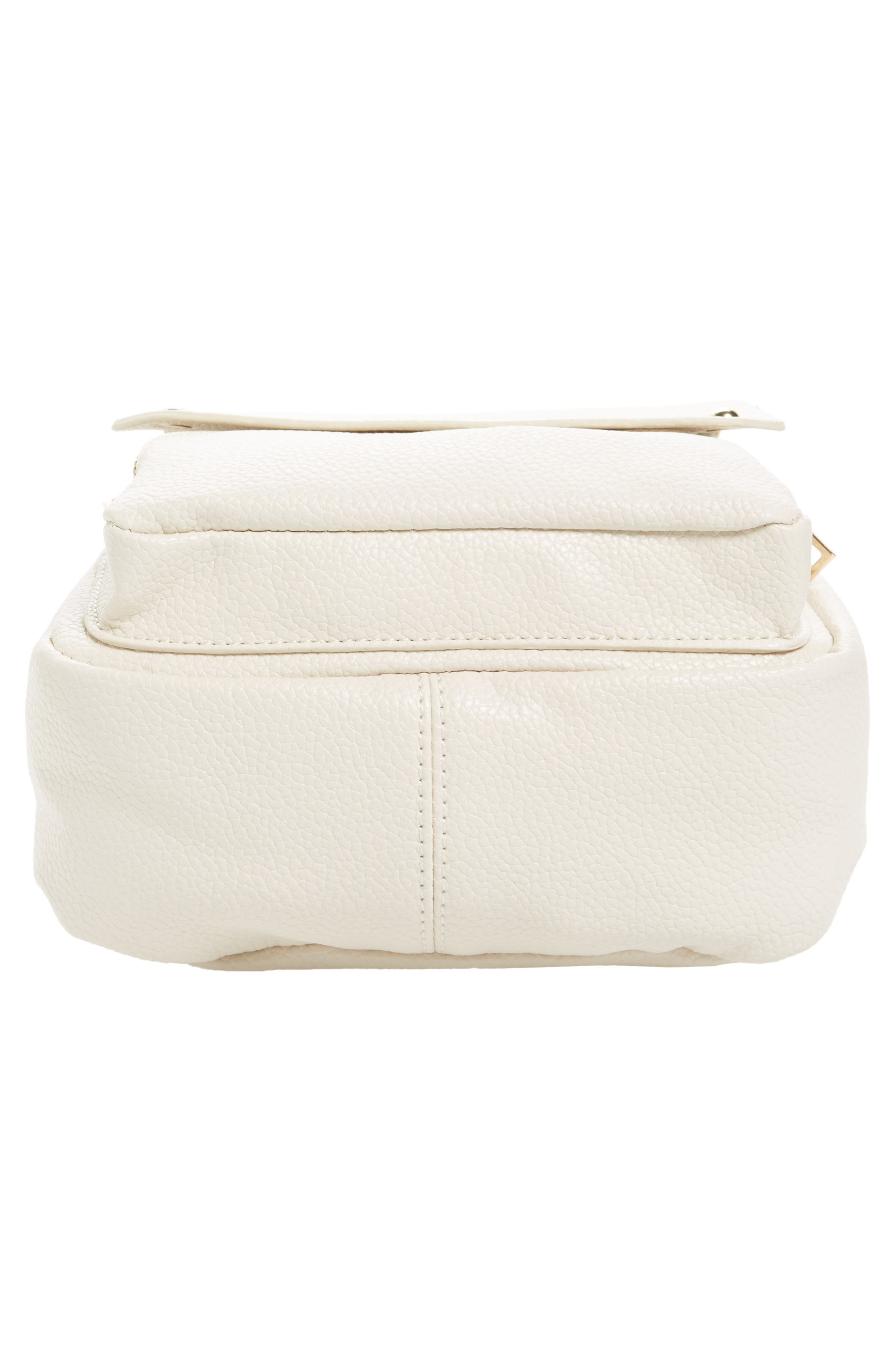 Alternate Image 6  - Girly Faux Leather Flap Mini Backpack