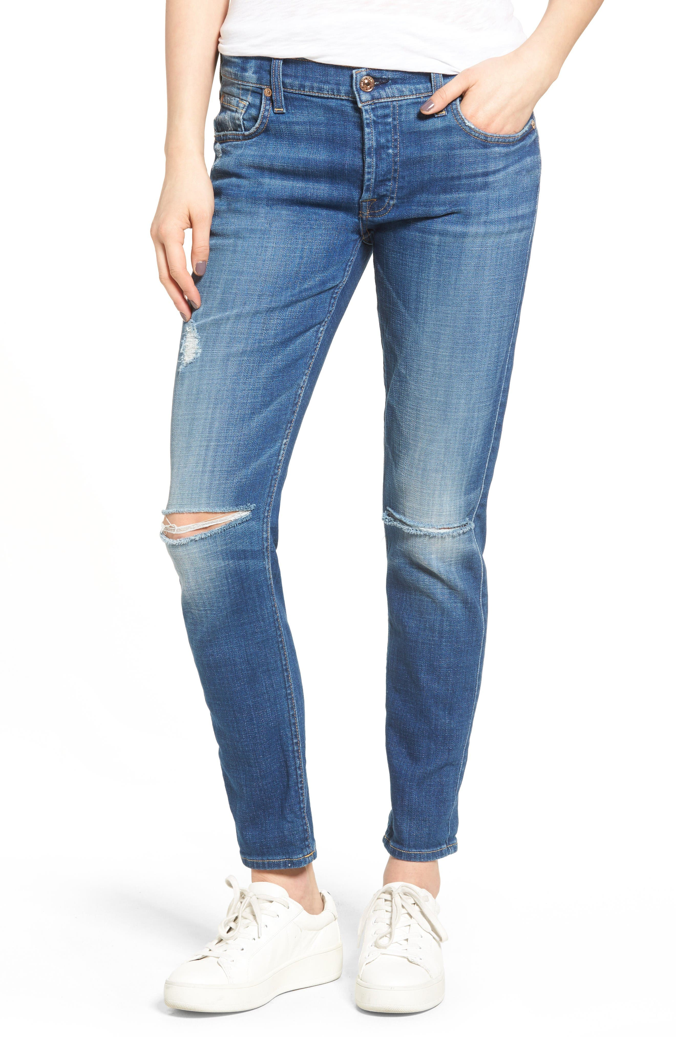 7 FOR ALL MANKIND® Josefina Distressed Boyfriend Jeans