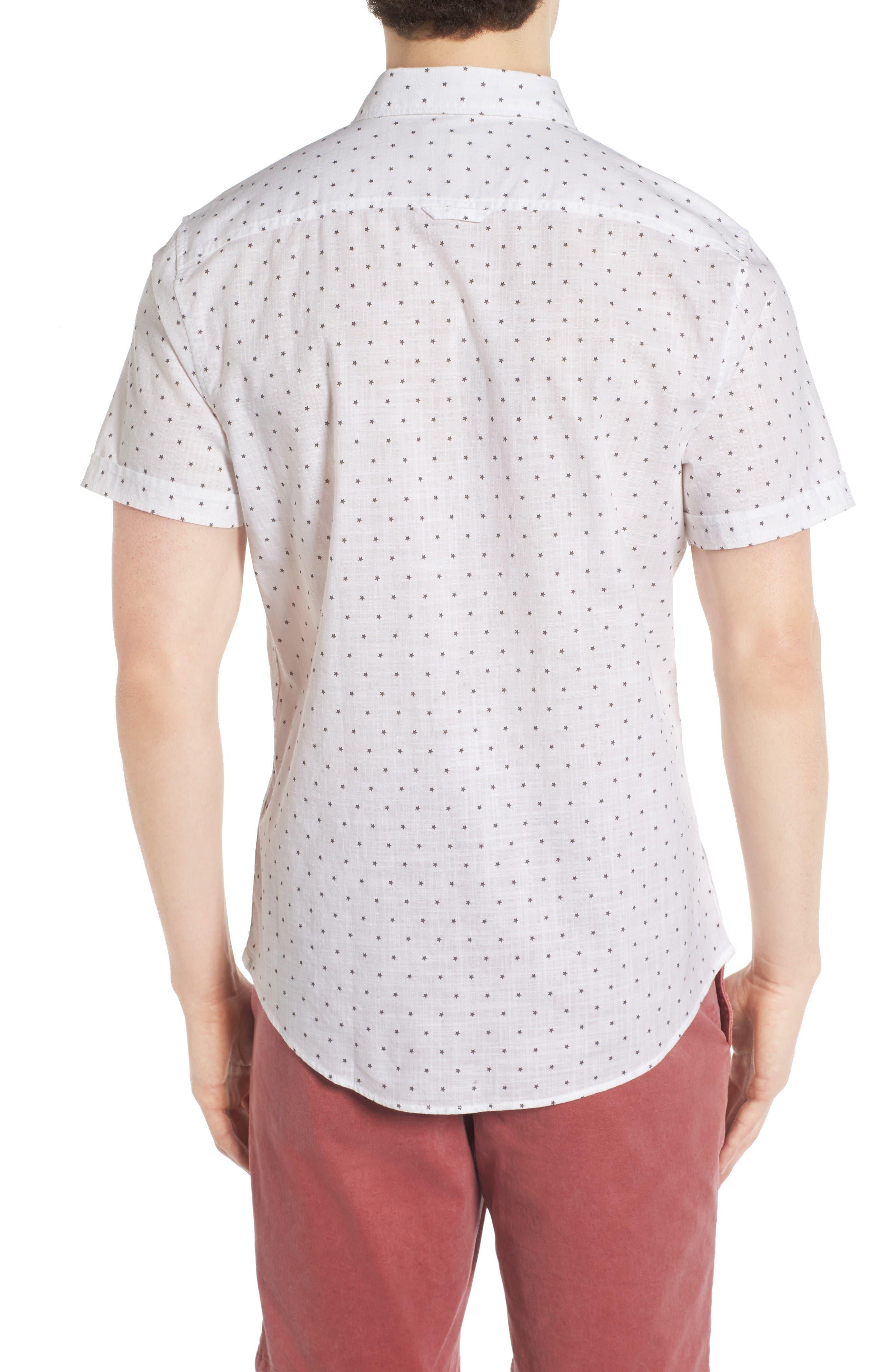 Alternate Image 2  - 1901 Star Print Woven Shirt