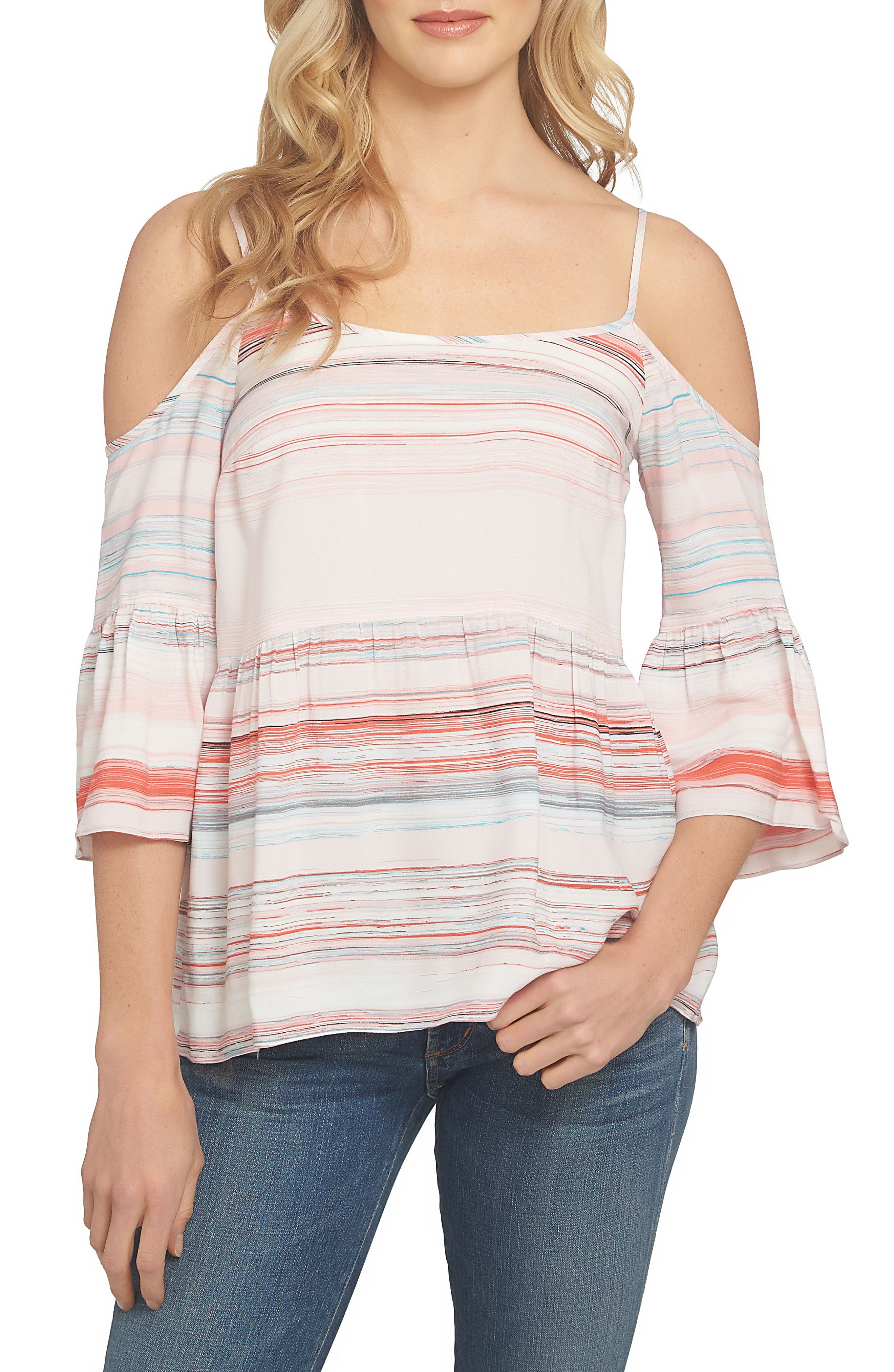 Main Image - 1.STATE Bell Sleeve Off the Shoulder Top
