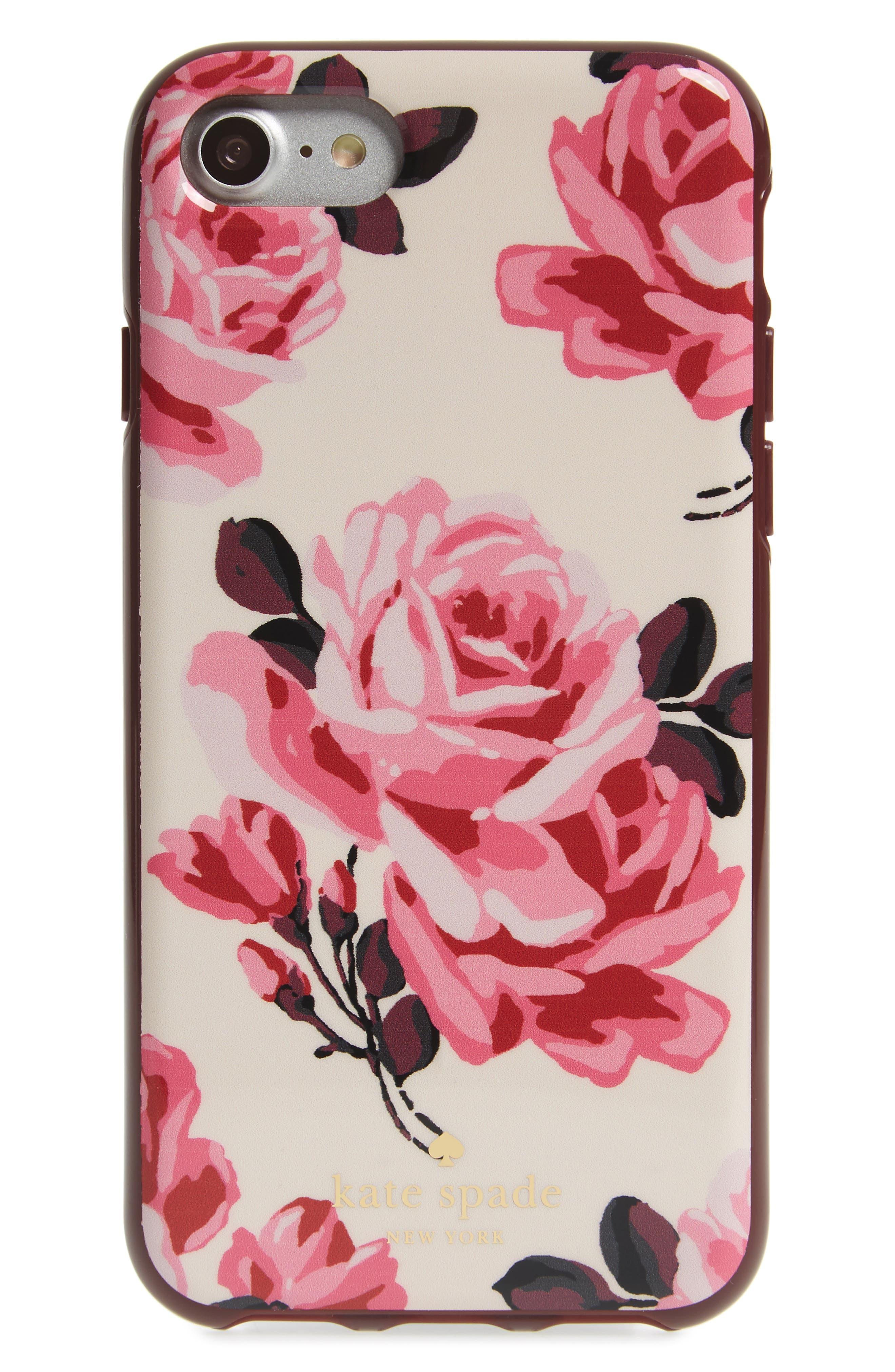 Alternate Image 1 Selected - kate spade new york rosa iPhone 7 case