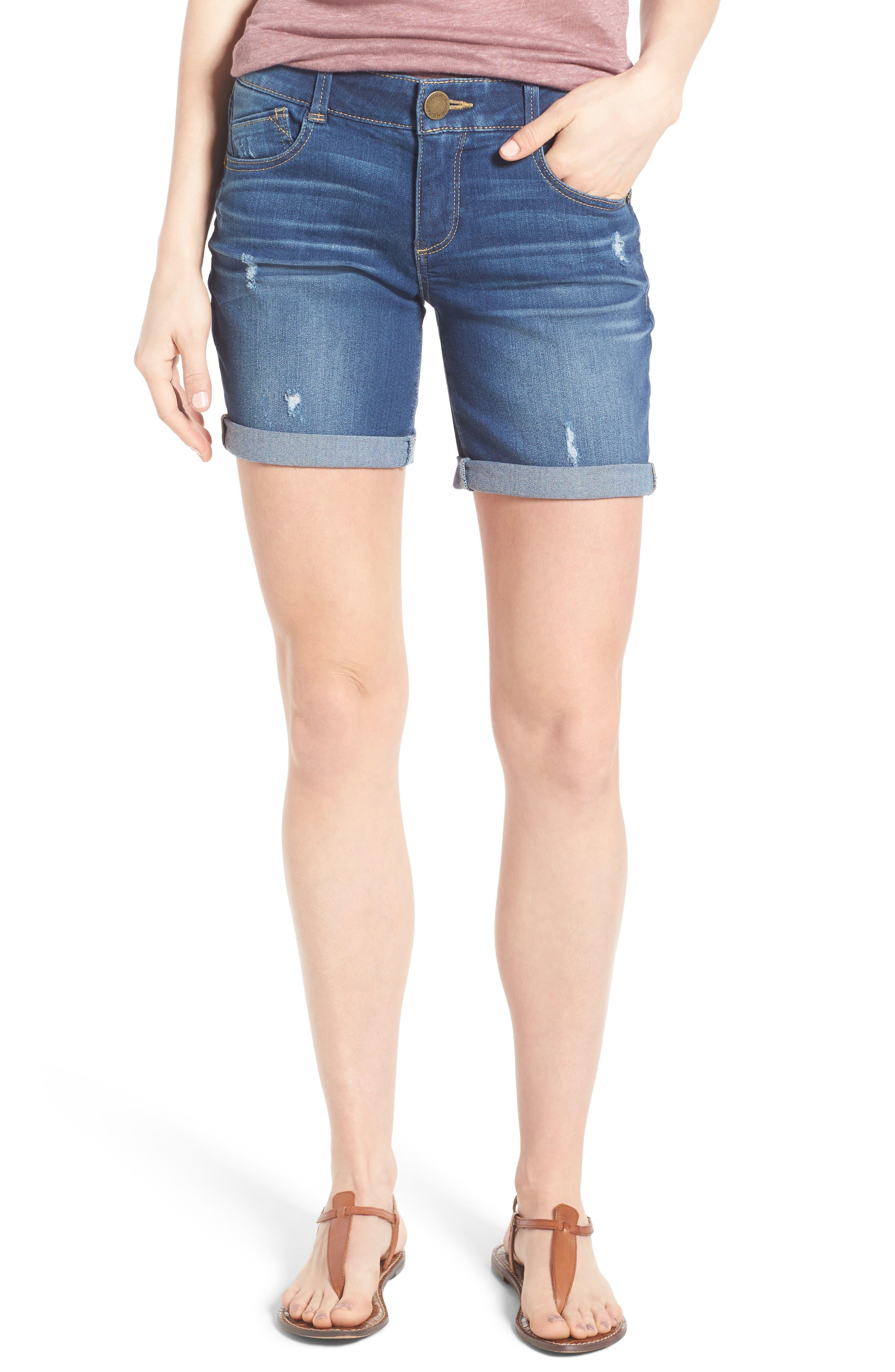 Wit & Wisdom Ab-solution Bermuda Denim Shorts (Regular & Petite) (Nordstrom Exclusive)