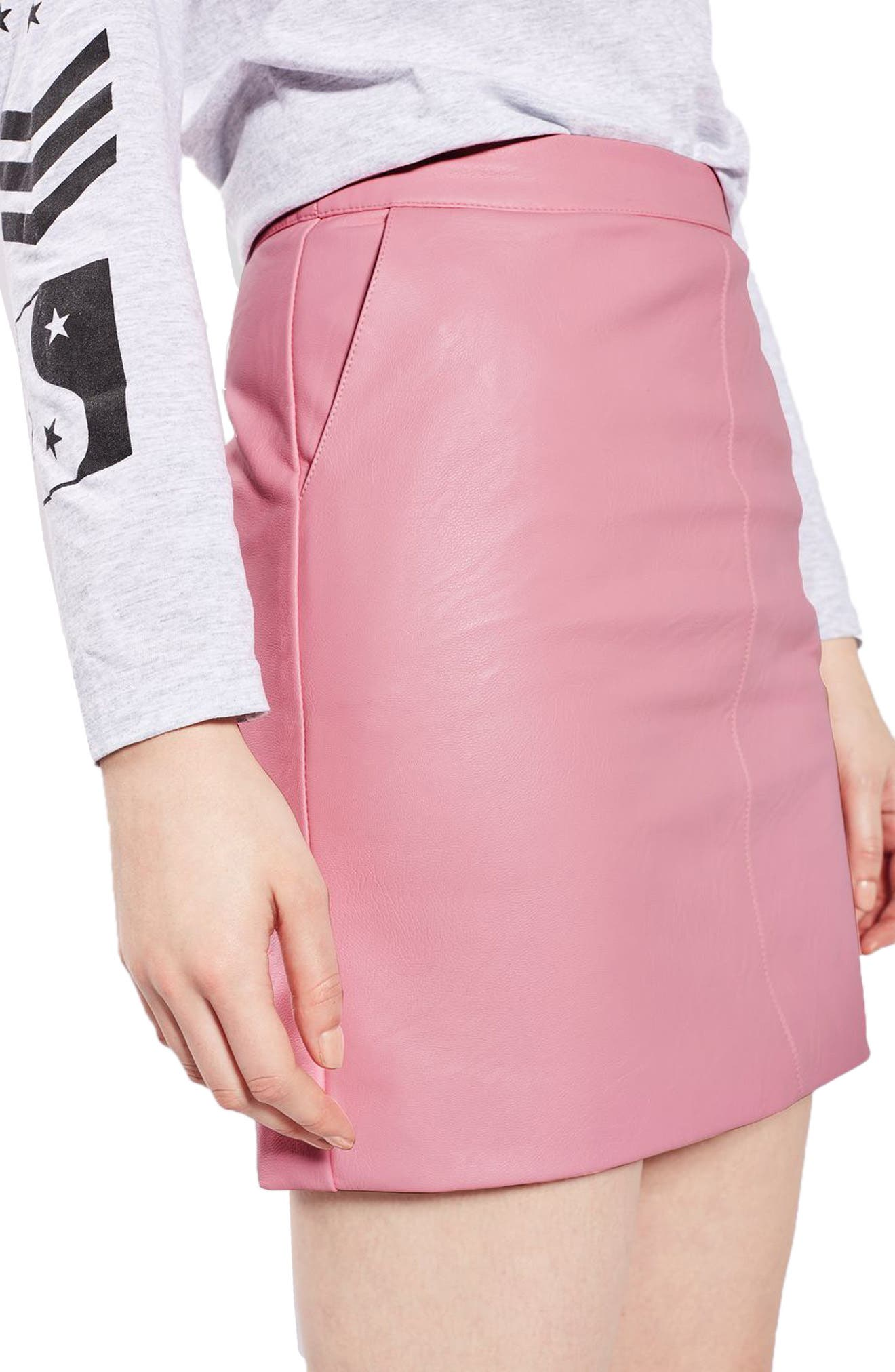 Alternate Image 4  - Topshop Faux Leather Pencil Skirt (Regular & Petite)