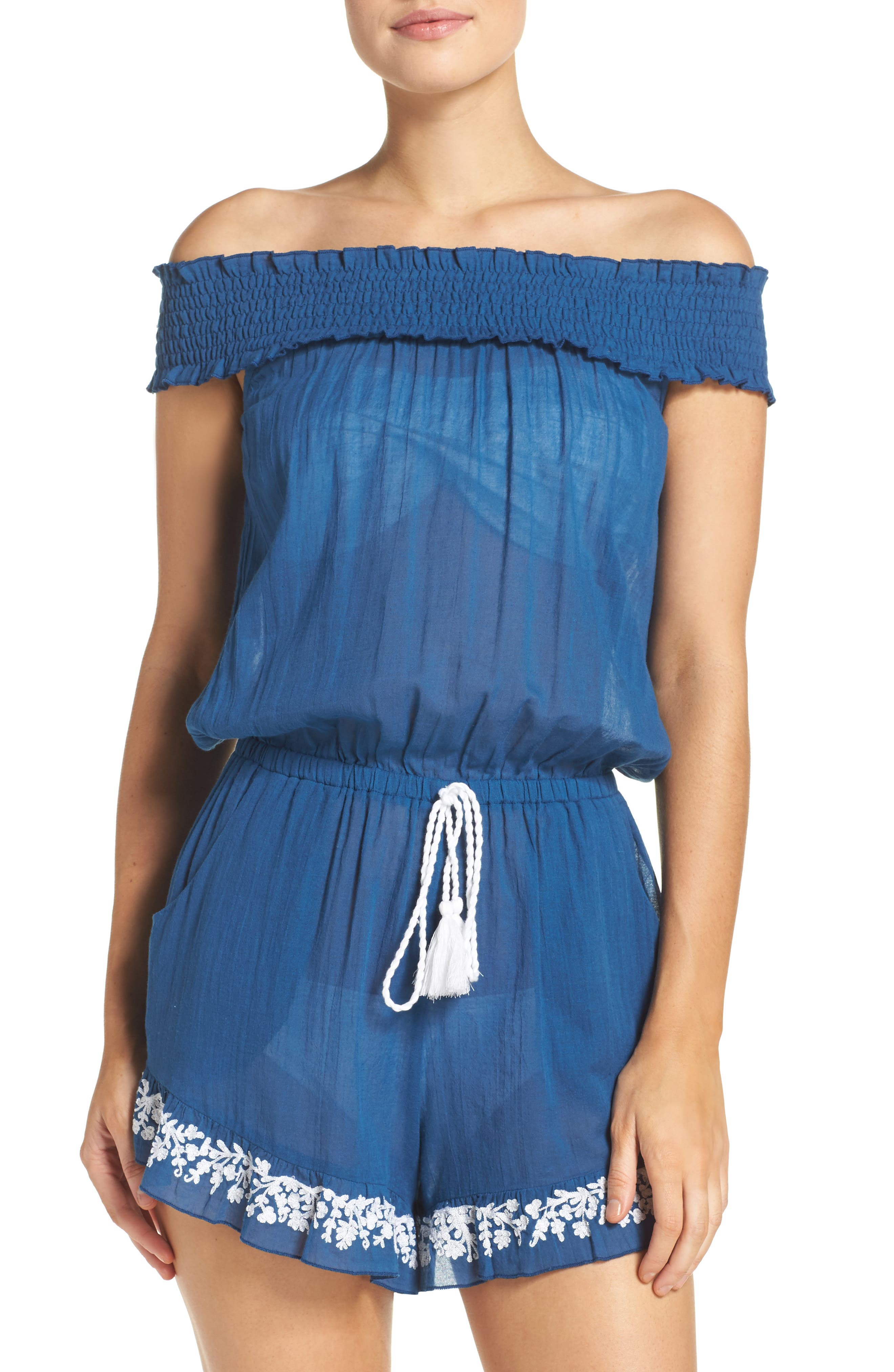 Lucky Brand Stitch in Time Off the Shoulder Romper