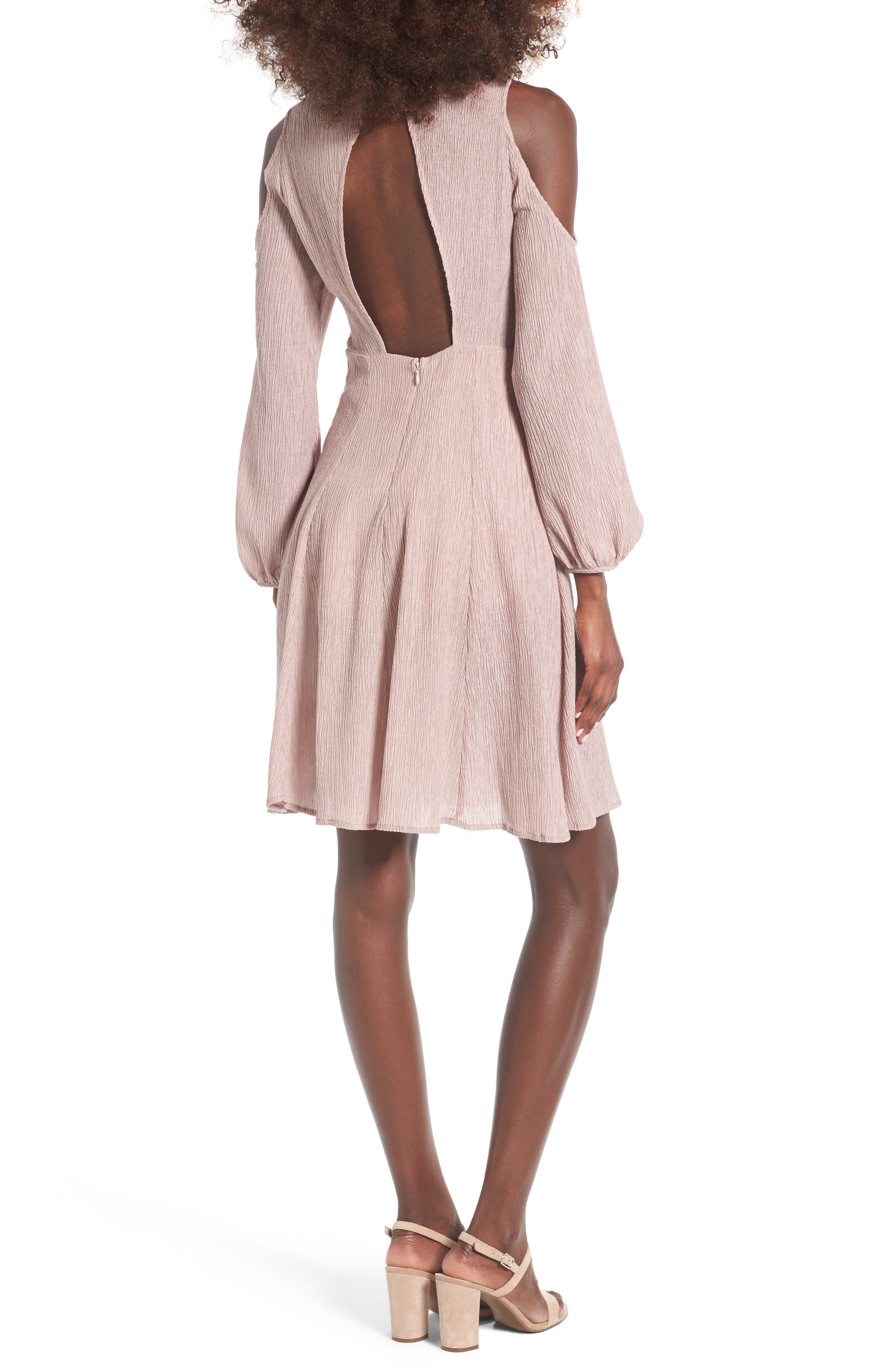 Alternate Image 2  - Lush Cold Shoulder Dress