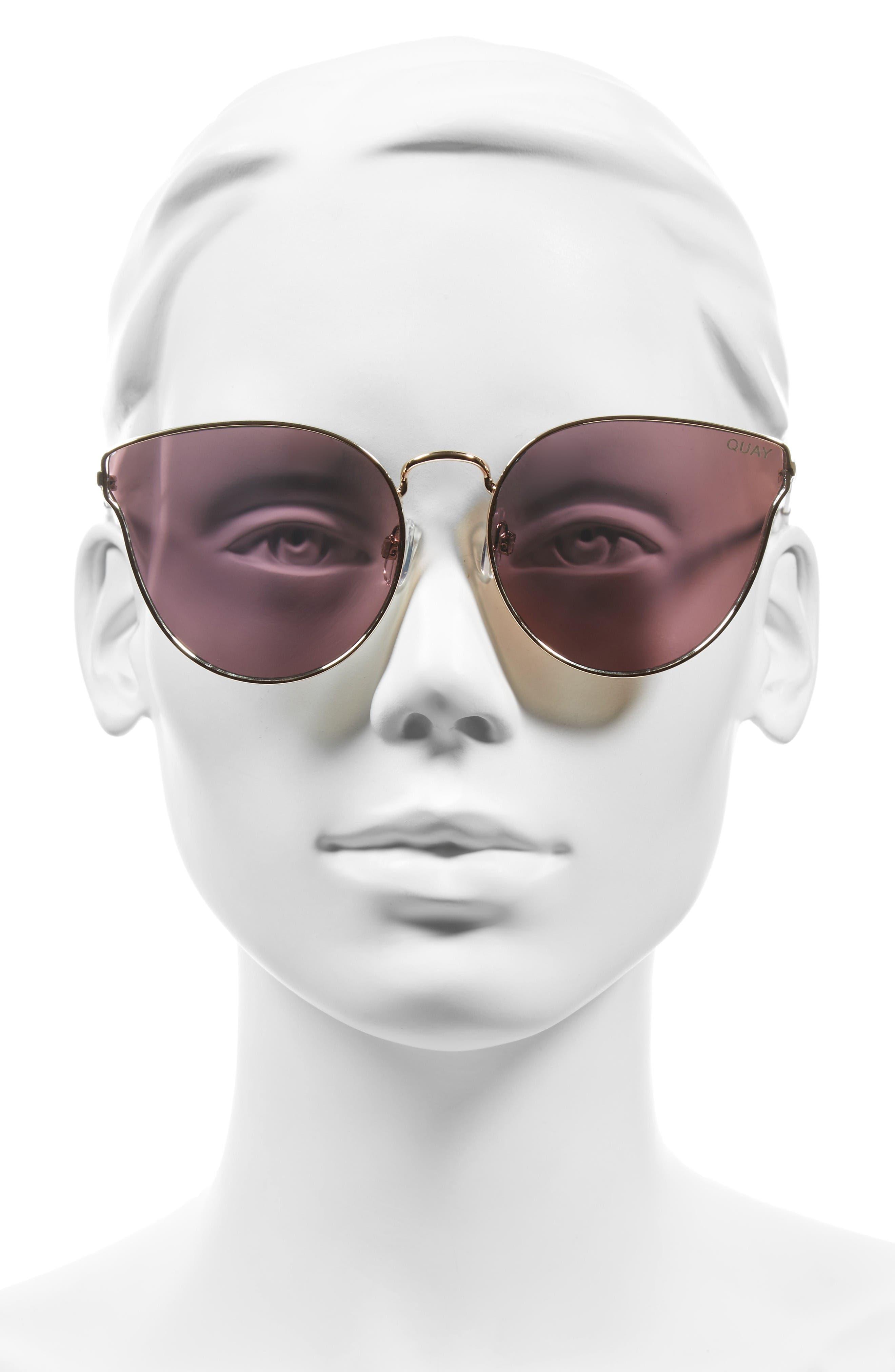Alternate Image 2  - Quay Australia 'All My Love' 60mm Retro Sunglasses