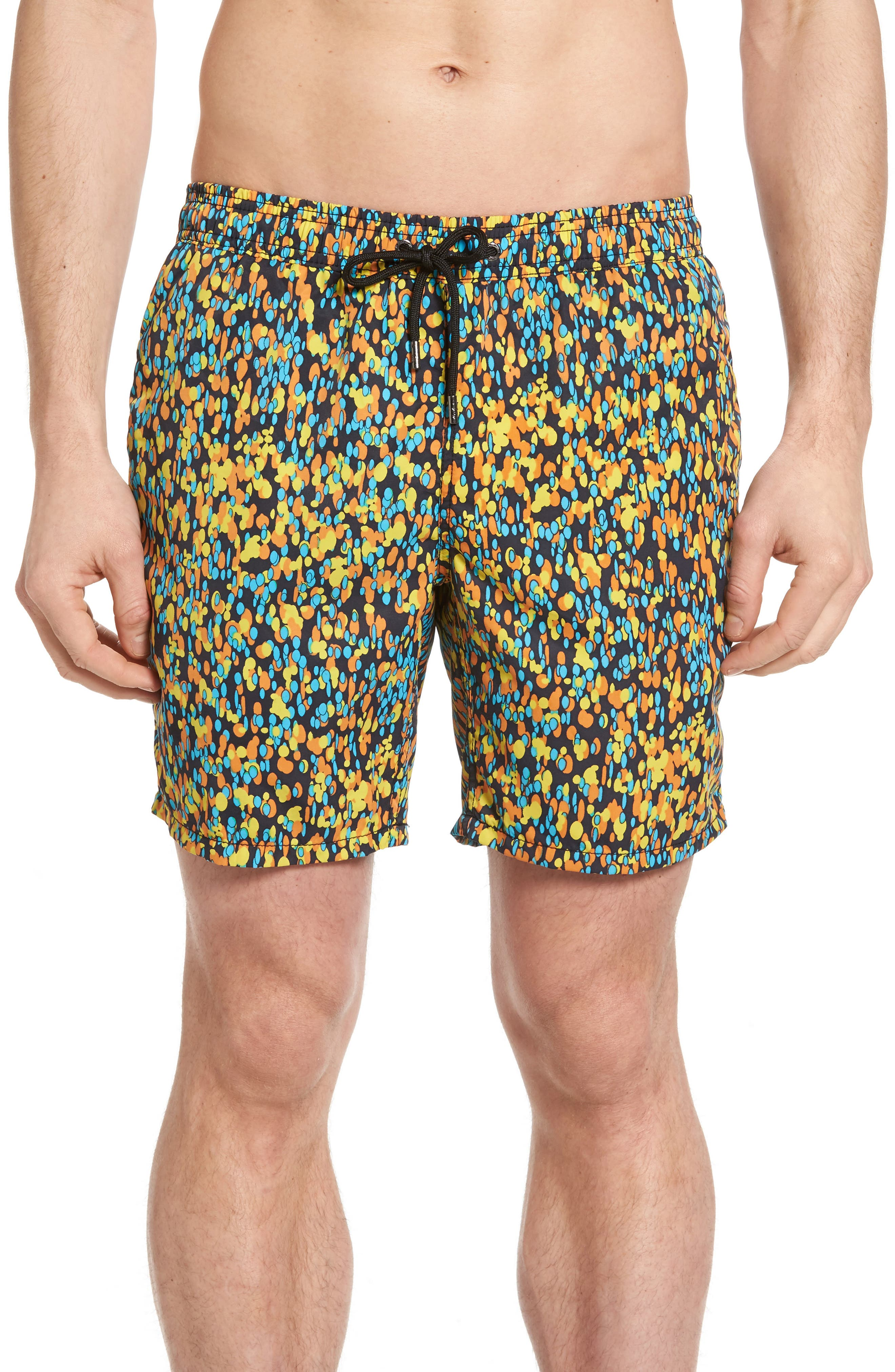 Mr.Swim Splatter Print Swim Trunks