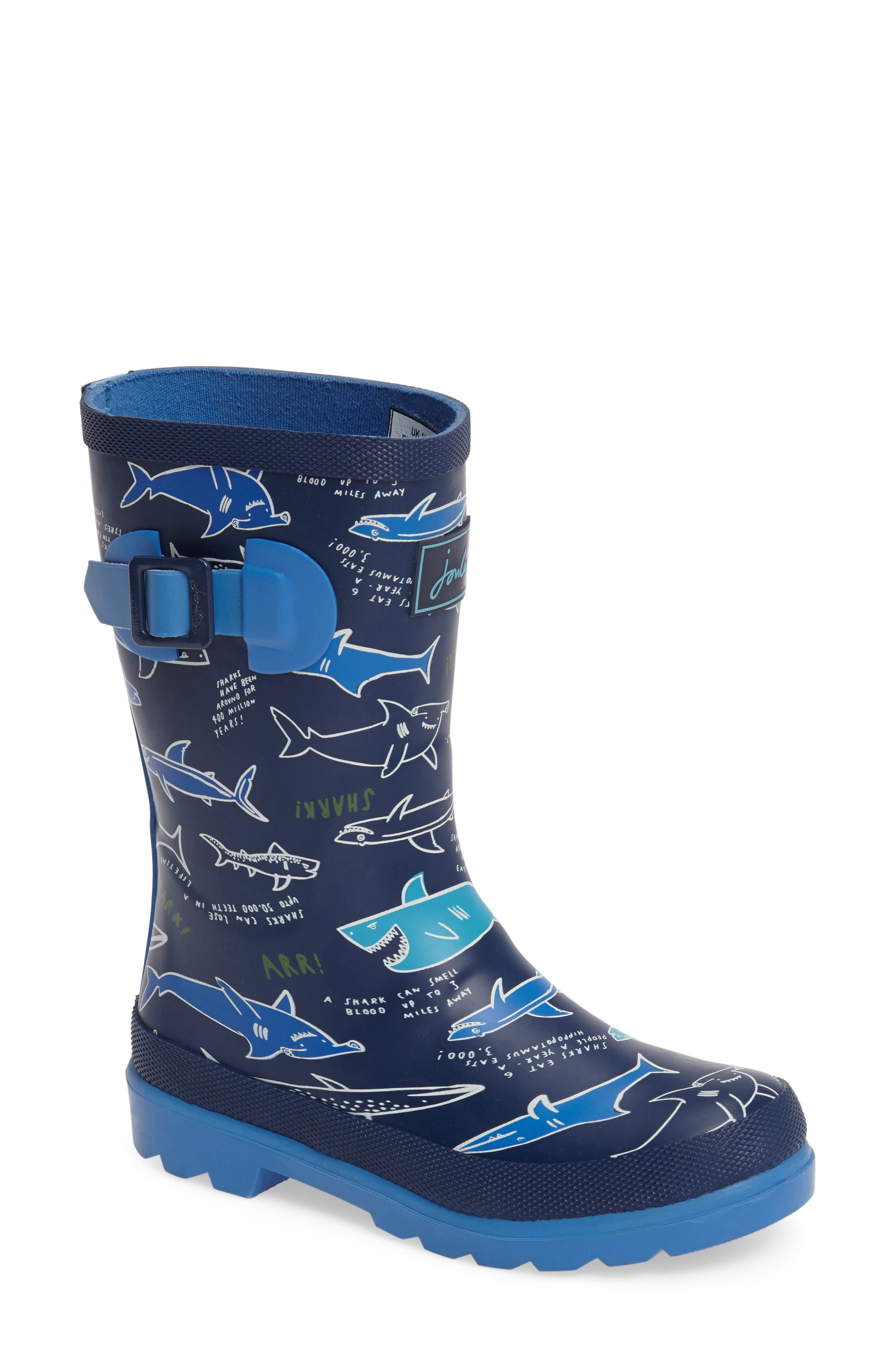 Joules Print Waterproof Rain Boot (Toddler, Little Kid & Big Kid)