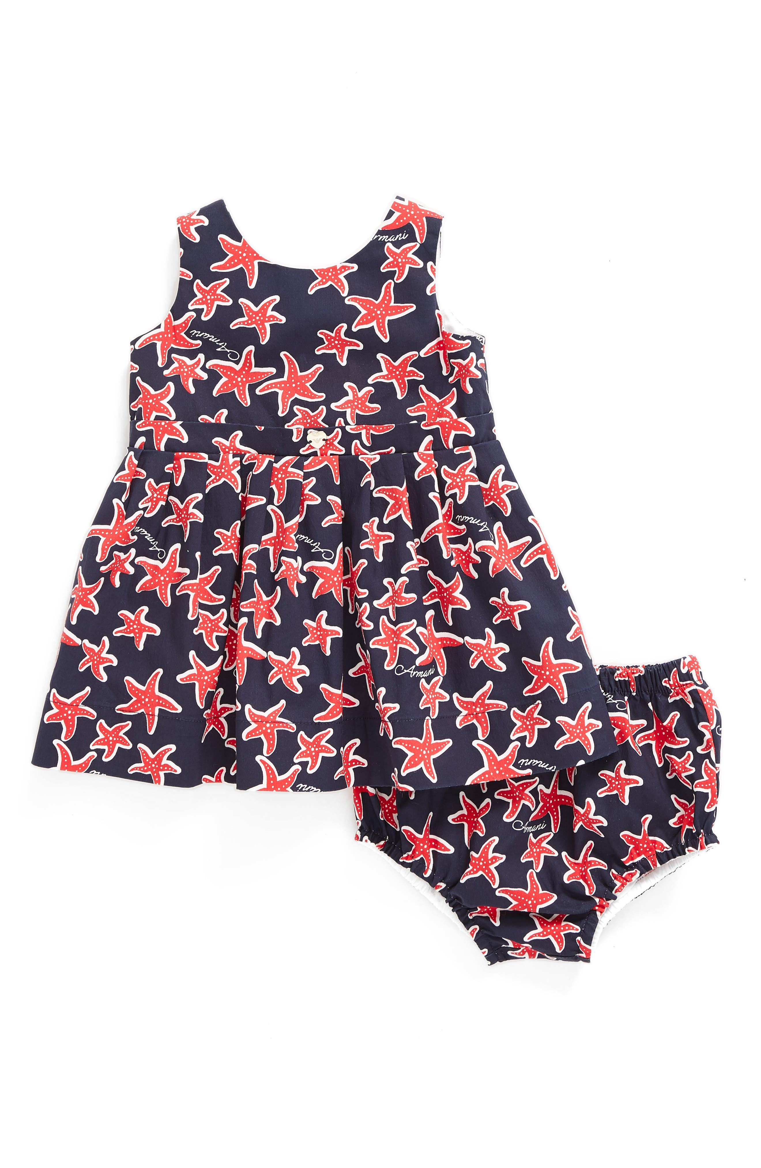 Armani Junior Starfish Print Dress (Baby Girls)