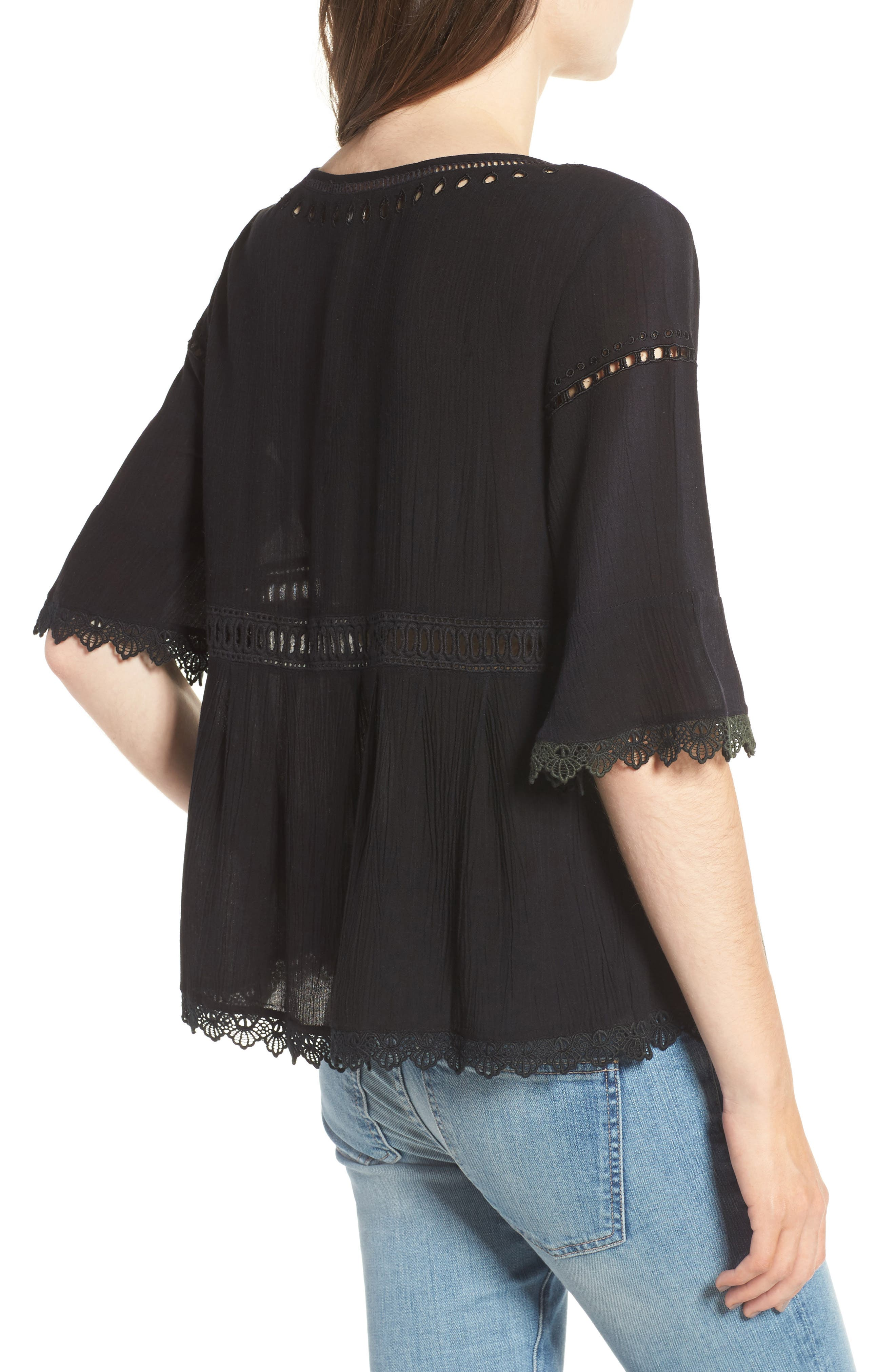 Alternate Image 2  - Ella Moss Broderie Anglaise Top