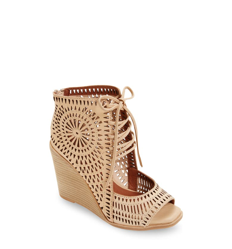 Jeffrey Campbell Rayos Perforated Wedge Sandal Women