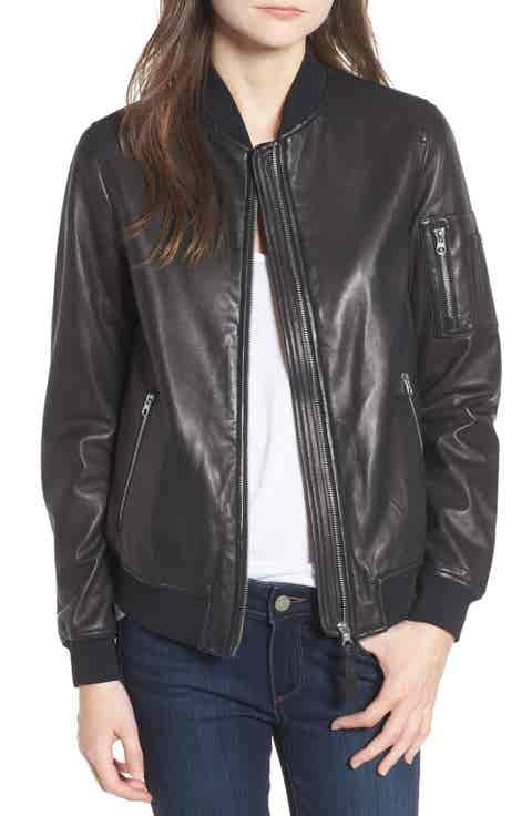 Mackage Leather Bomber Jacket
