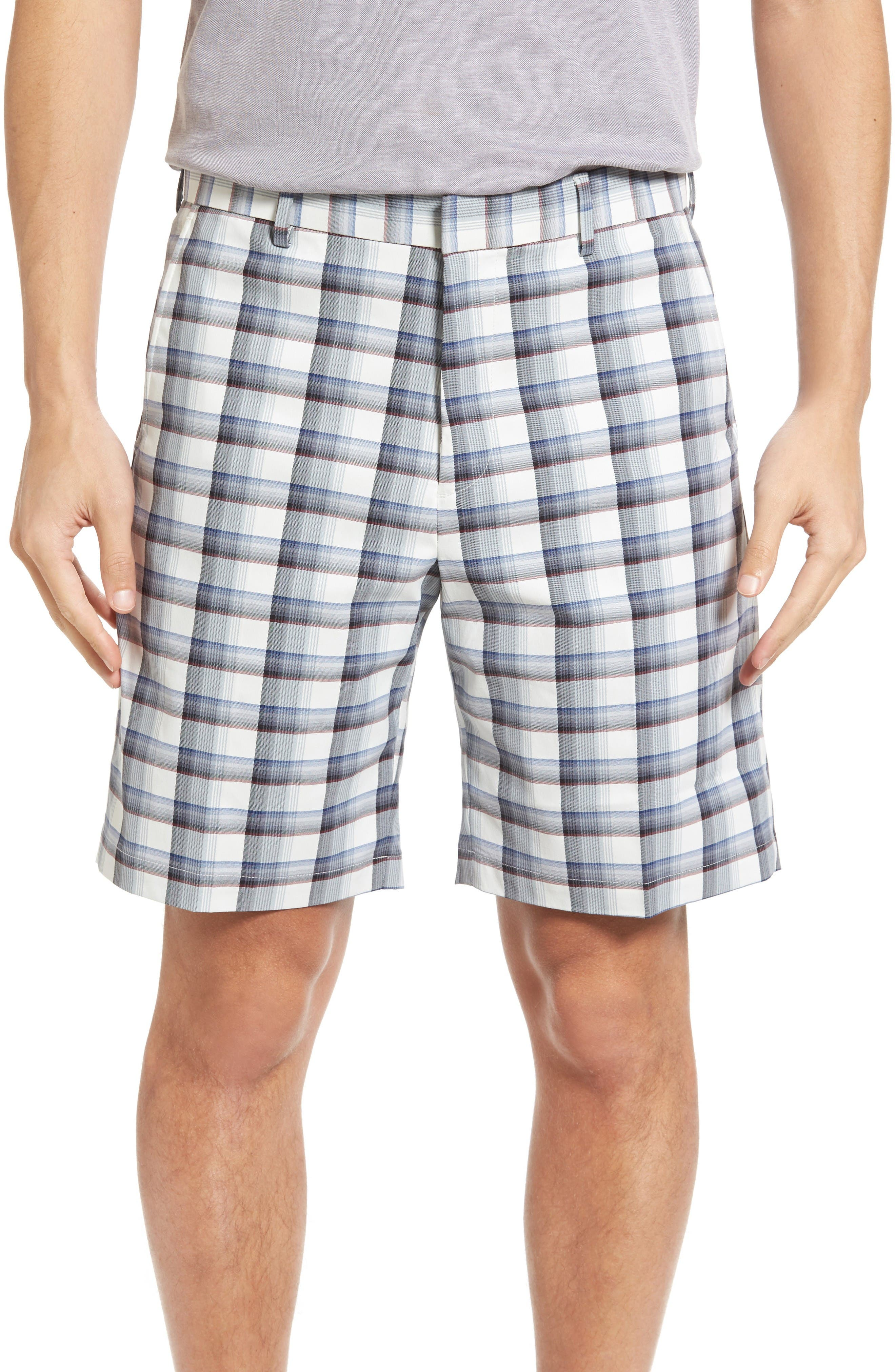 Bobby Jones Plaid Tech Chino Shorts (Regular & Big)