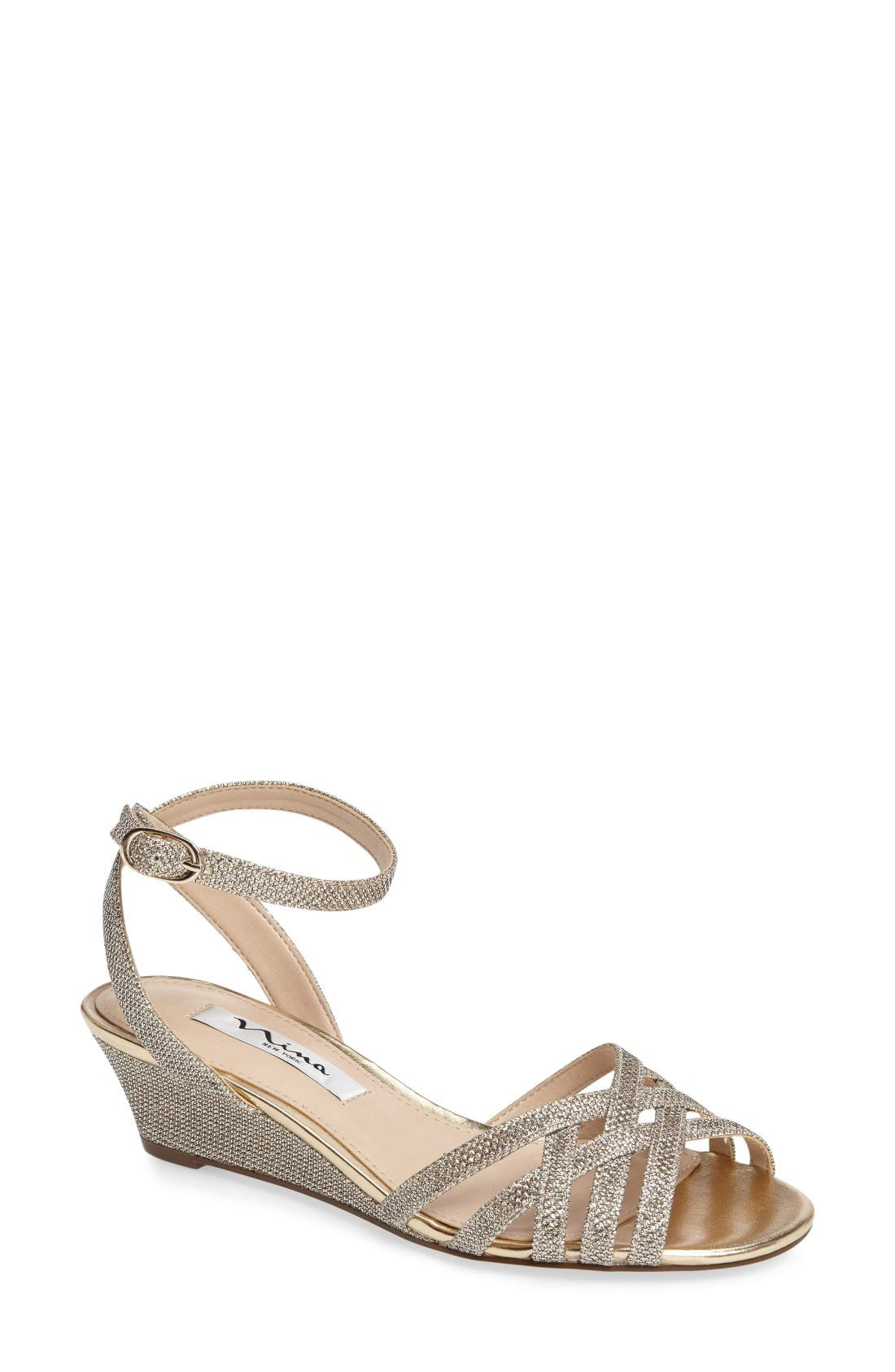NINA Faria Ankle Strap Sandal