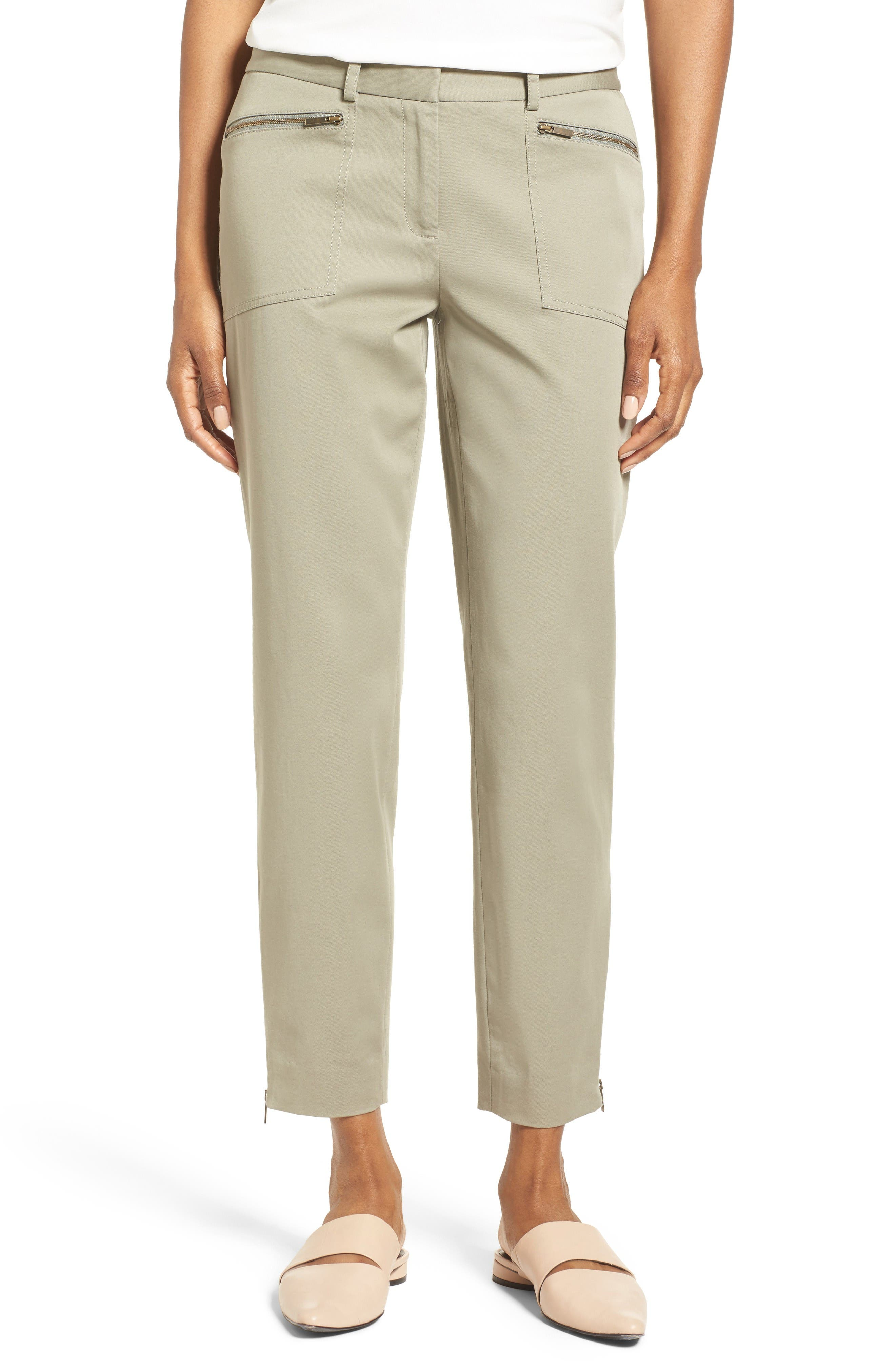 Nordstrom Collection Utility Slim Crop Pants