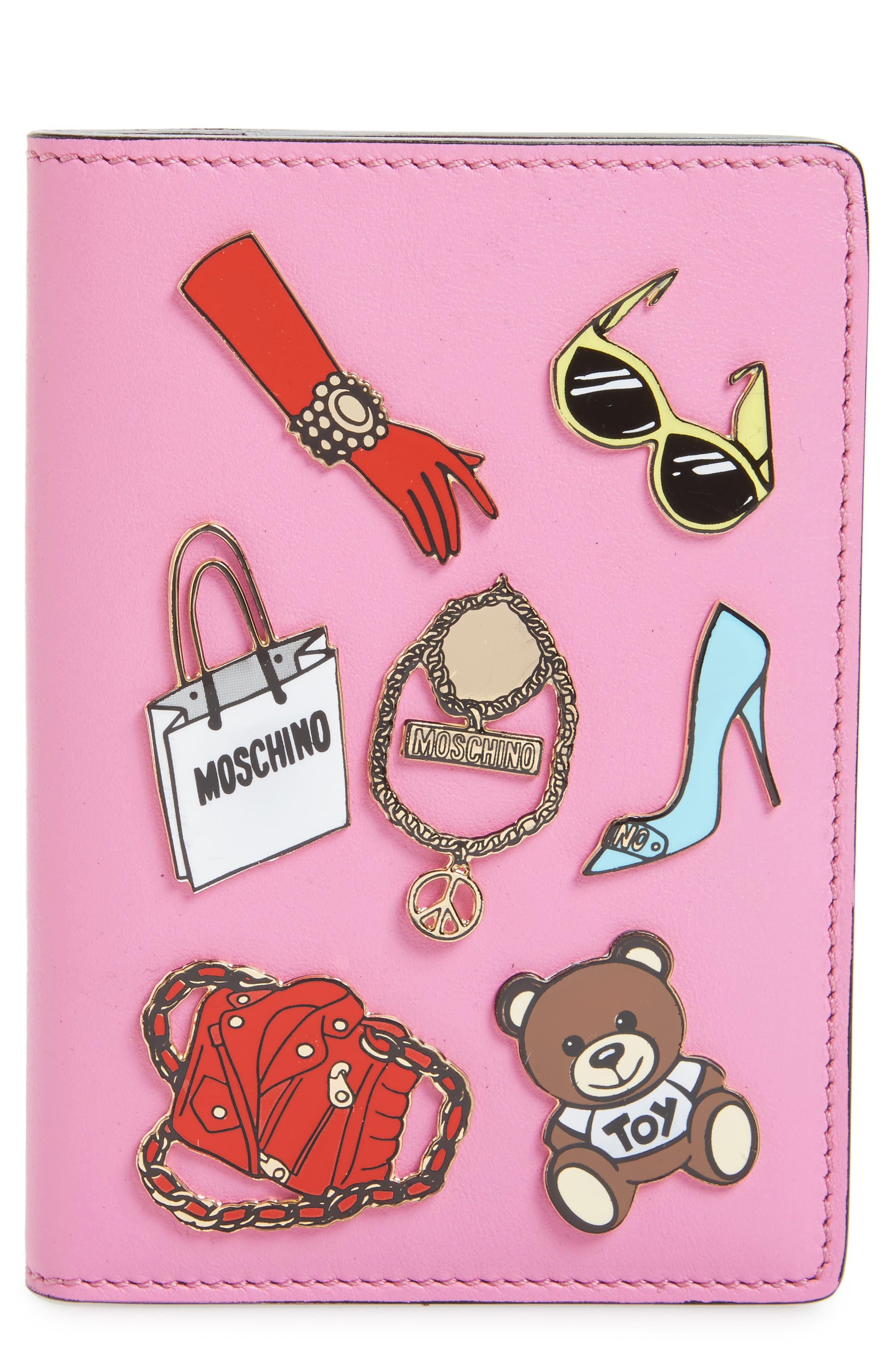 Alternate Image 1 Selected - Moschino Tool Belt Charms Passport Cover