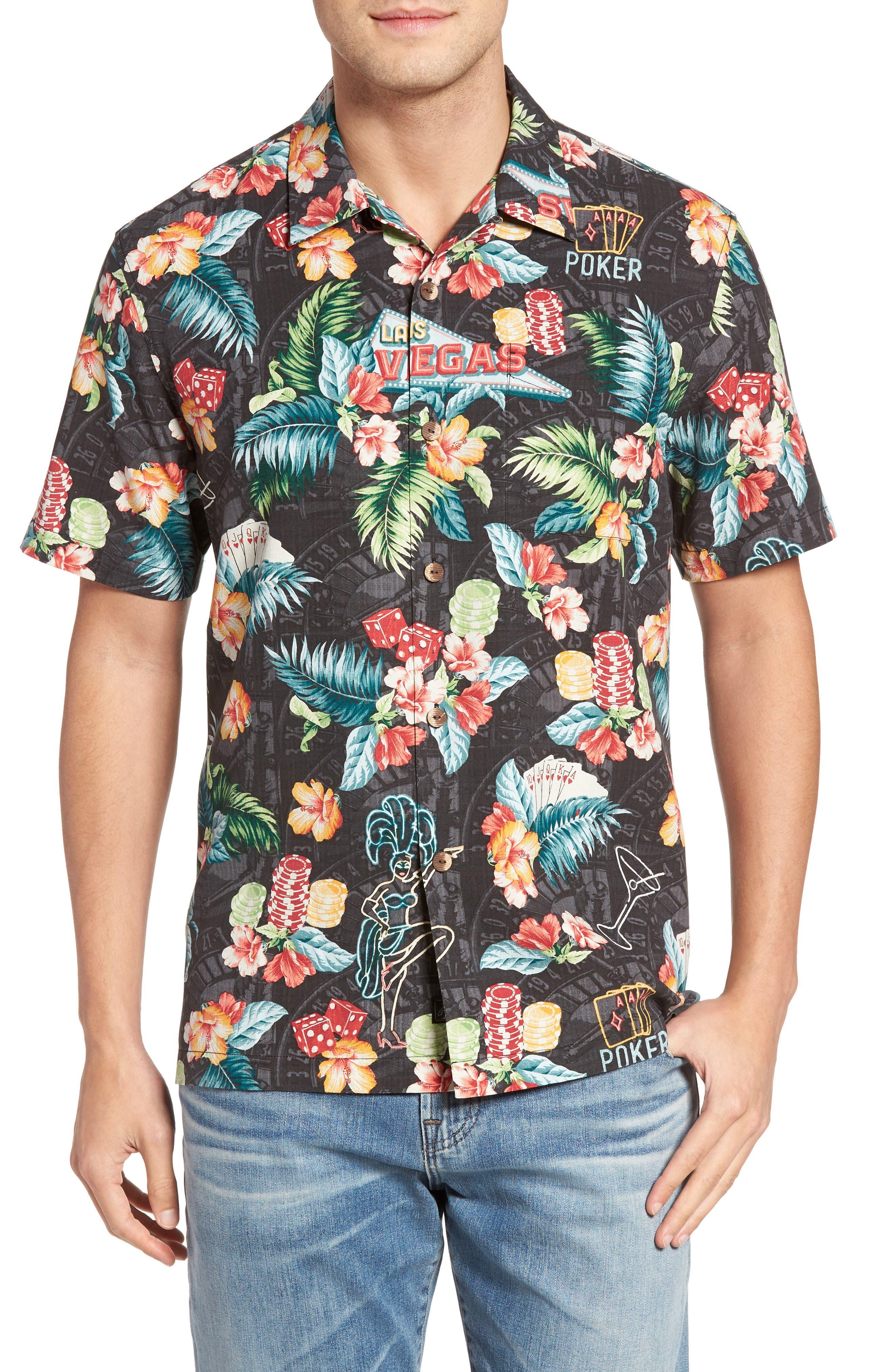 Tommy Bahama Poker Days Silk Camp Shirt (Big & Tall)