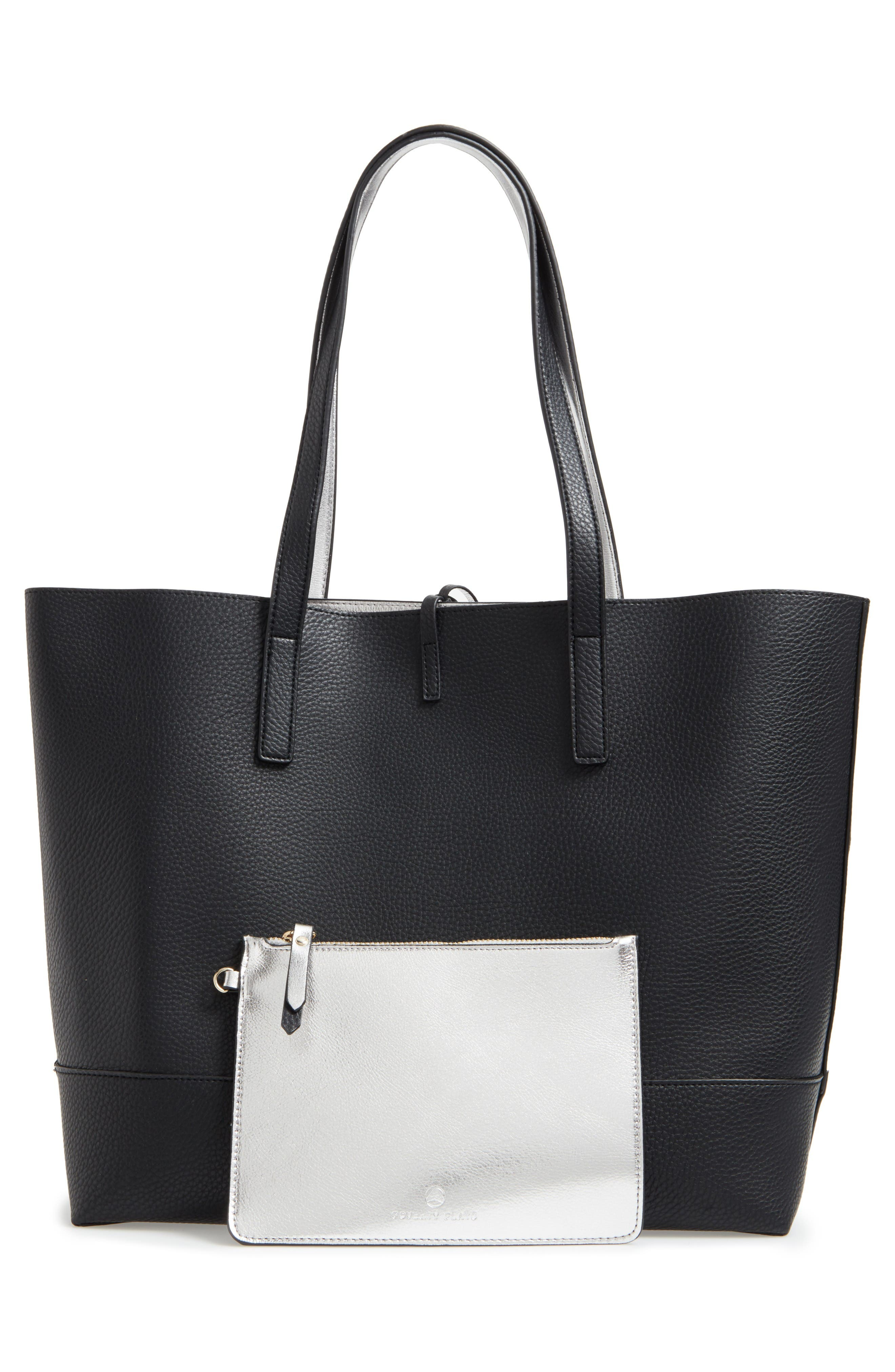 Alternate Image 4  - POVERTY FLATS by rian Reversible Faux Leather Tote