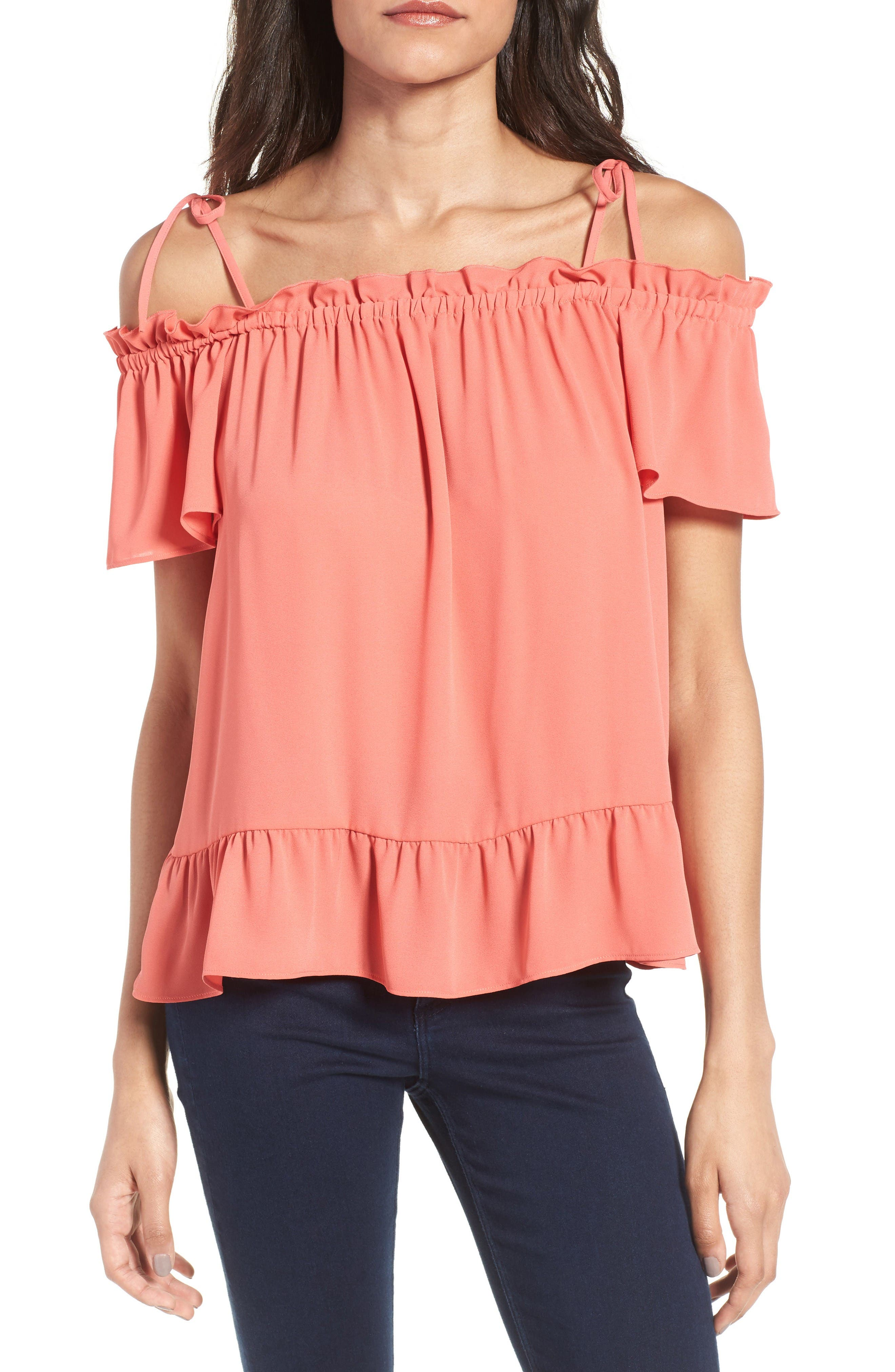 Alternate Image 1 Selected - Chelsea28 Ruffle Off the Shoulder Top