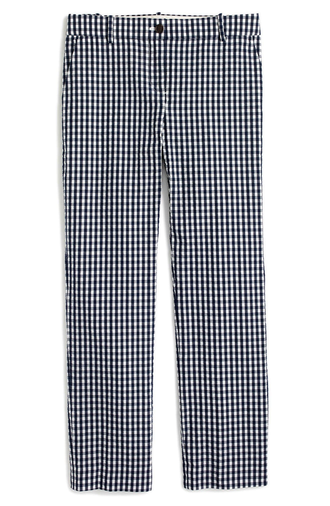 Alternate Image 4  - J.Crew Puckered Gingham Cigarette Pants