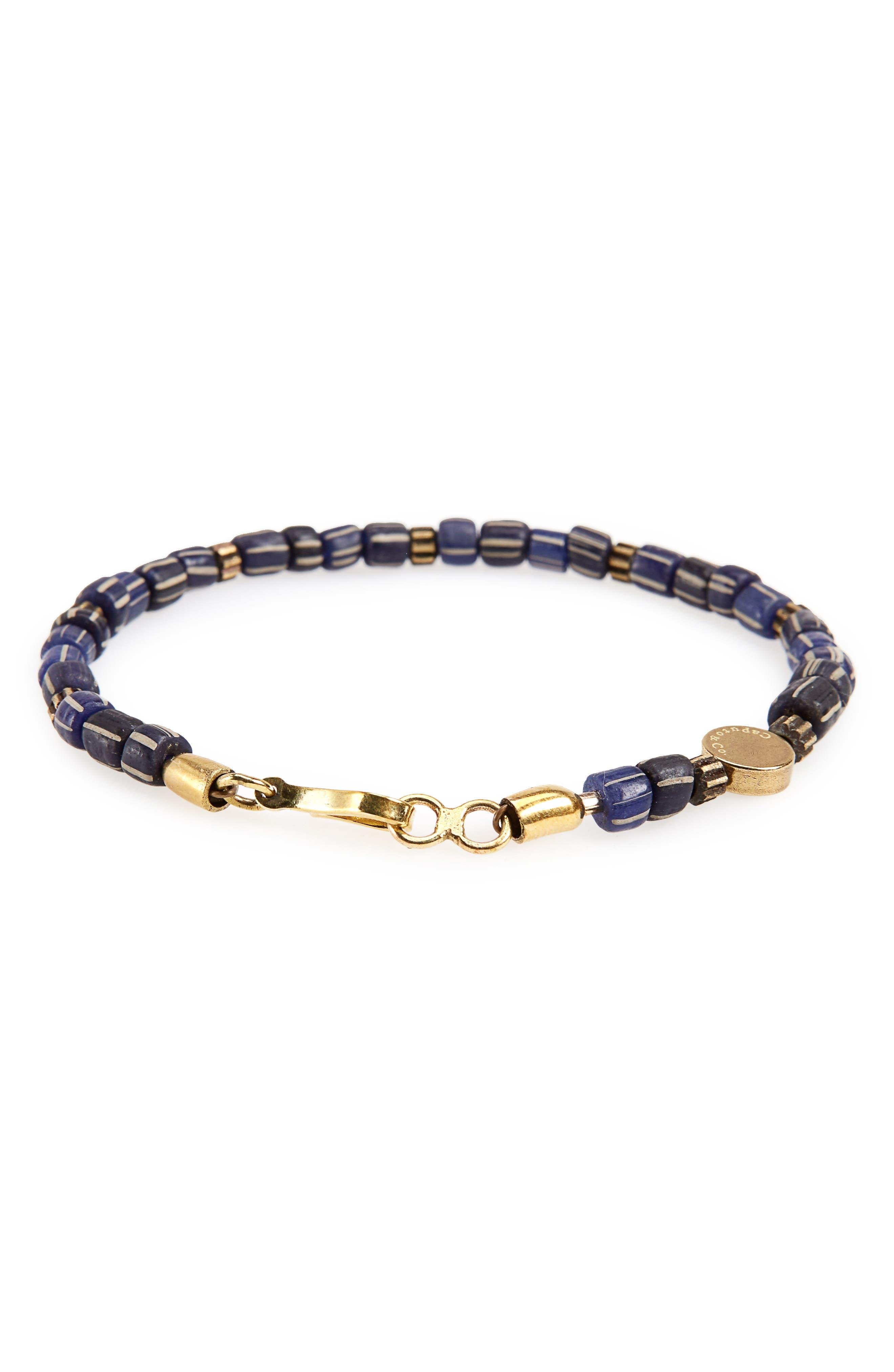 Caputo & Co. Glass Bead Bracelet