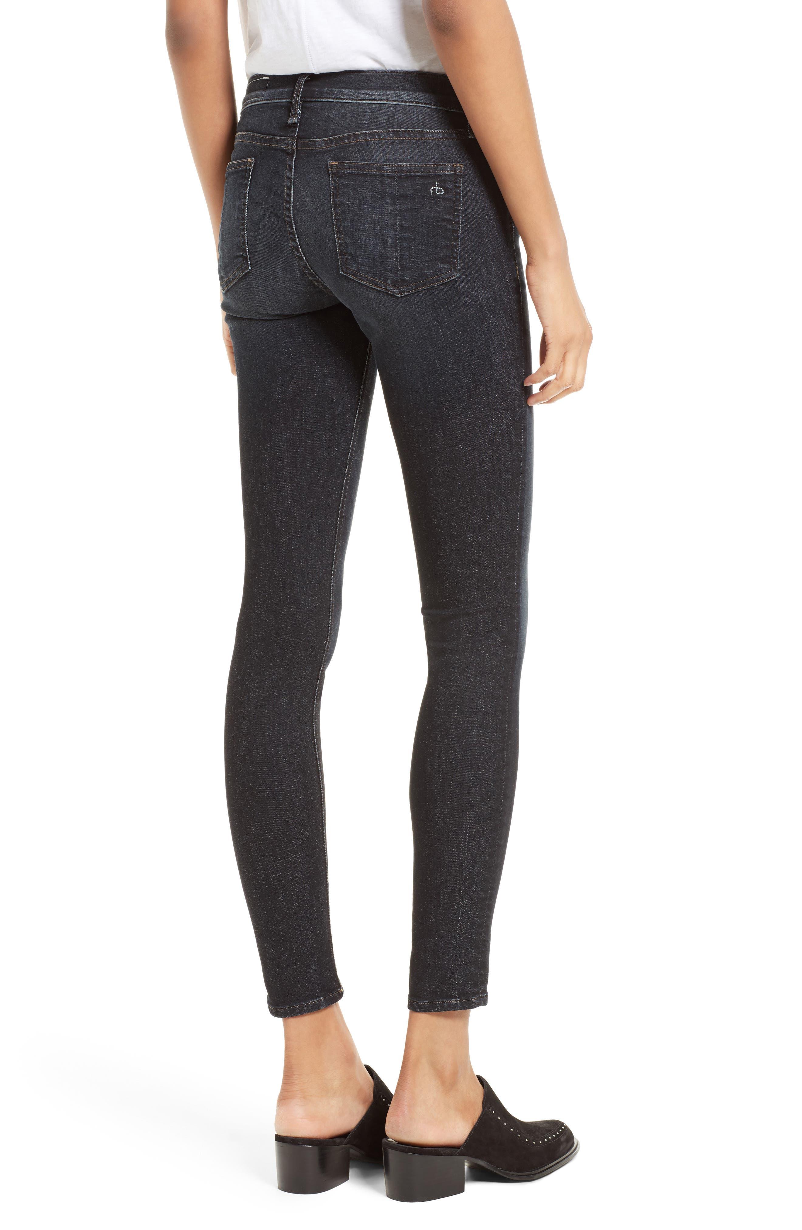 Alternate Image 2  - rag & bone/JEAN Skinny Jeans (Black Rae)