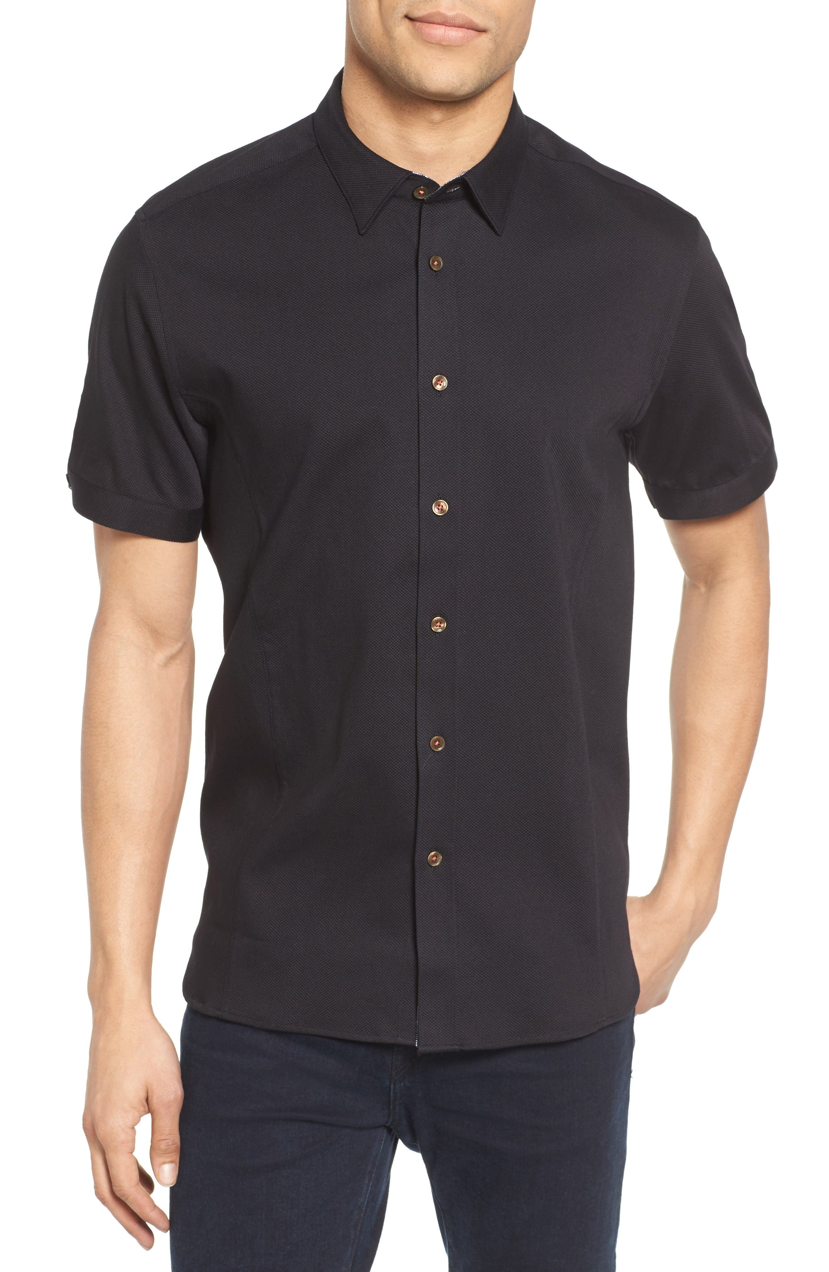 Ted Baker London Extra Slim Fit Textured Sport Shirt