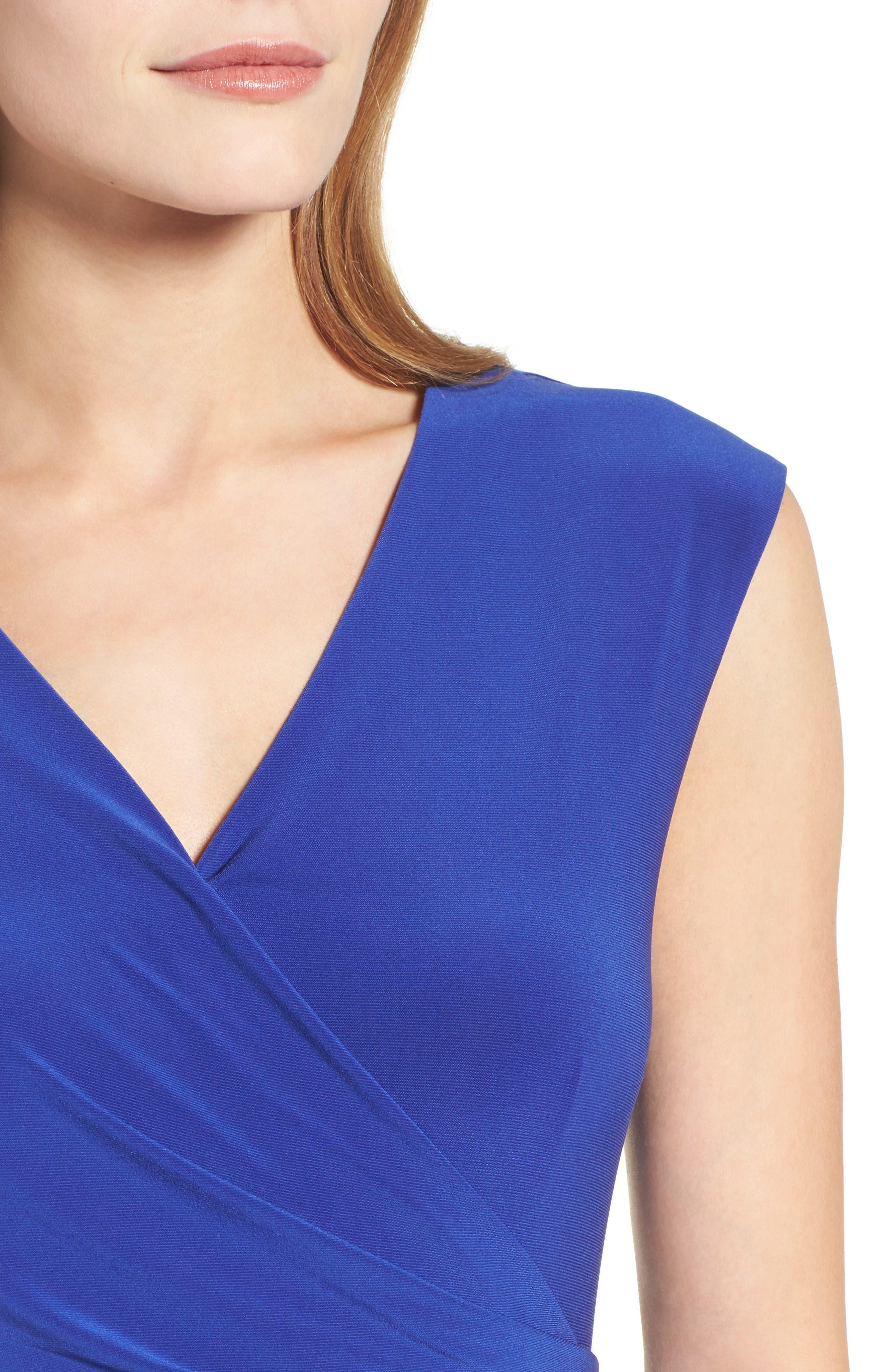 Alternate Image 4  - Chaus Faux Wrap Midi Dress
