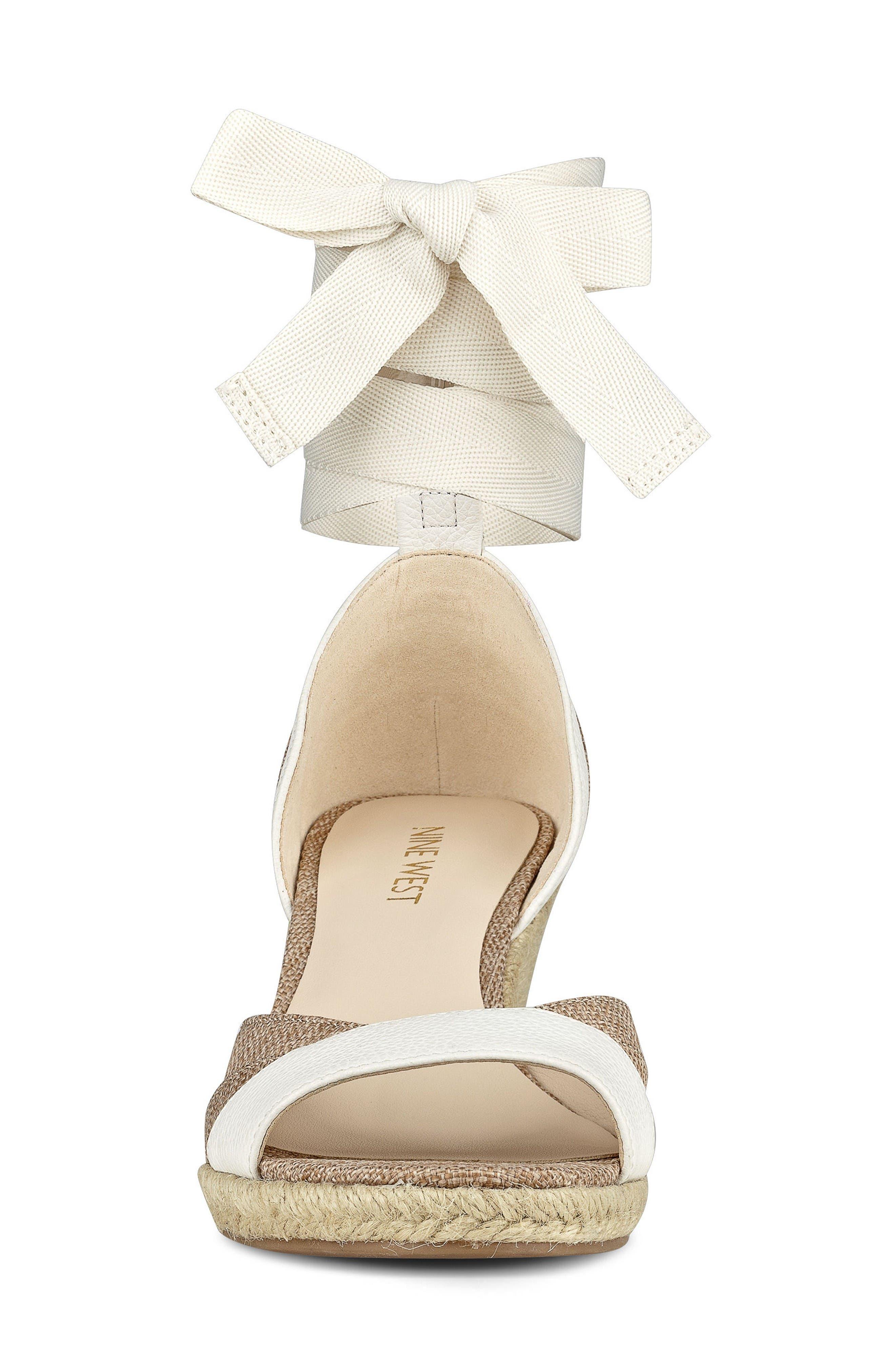 Alternate Image 3  - Nine West Jaxel Ankle Tie Wedge Sandal (Women)