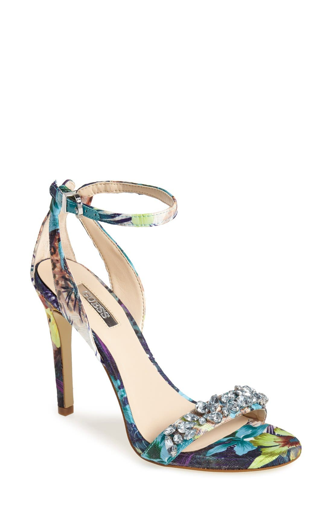 Alternate Image 1 Selected - Guess 'Catarina' Ankle Strap Sandal (Women)