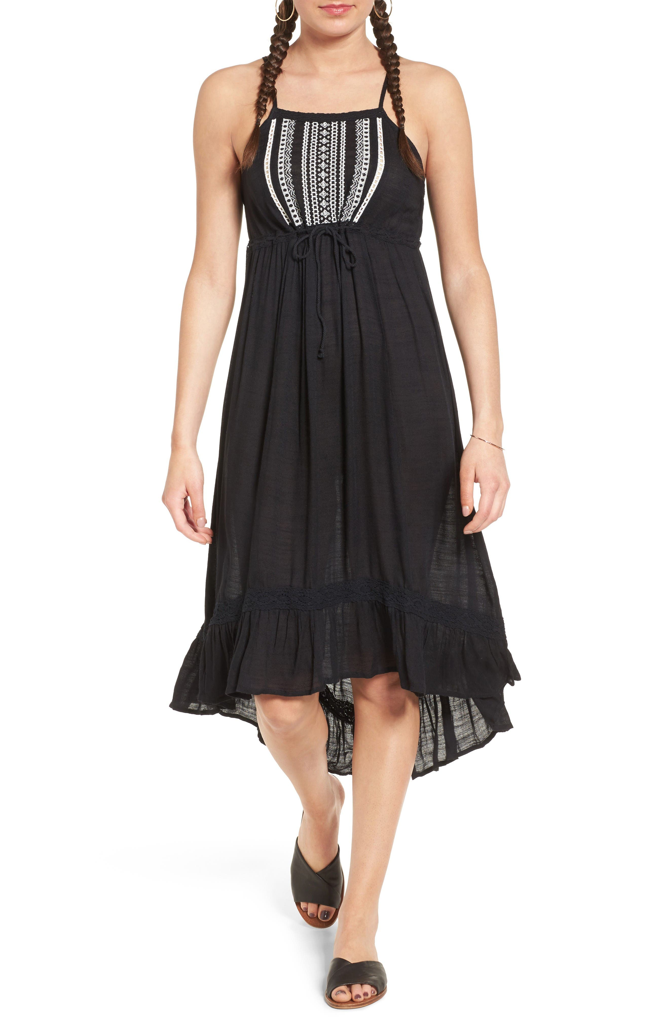 Rip Curl Embroidered Midi Dress