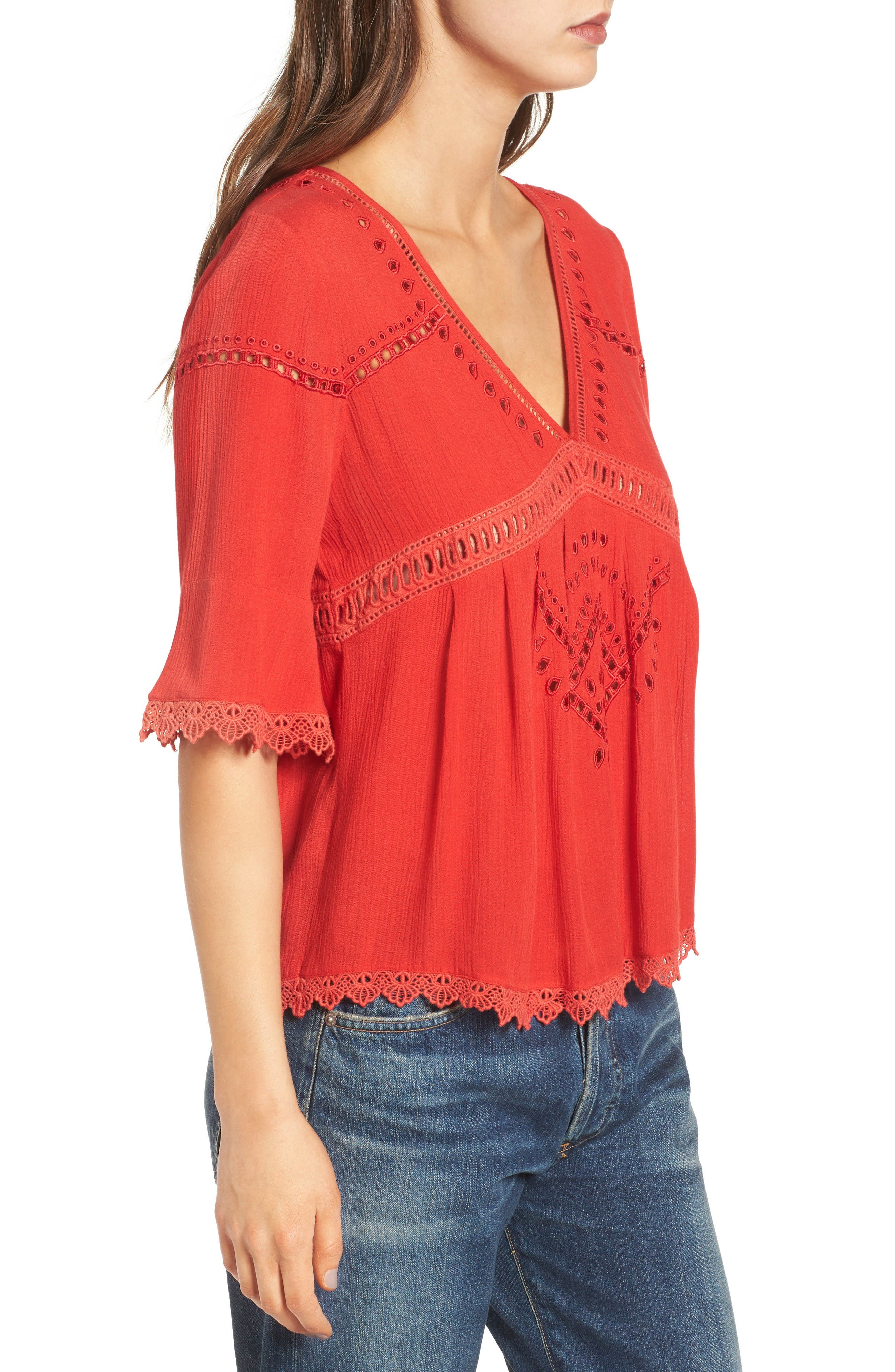 Alternate Image 4  - Ella Moss Broderie Anglaise Top
