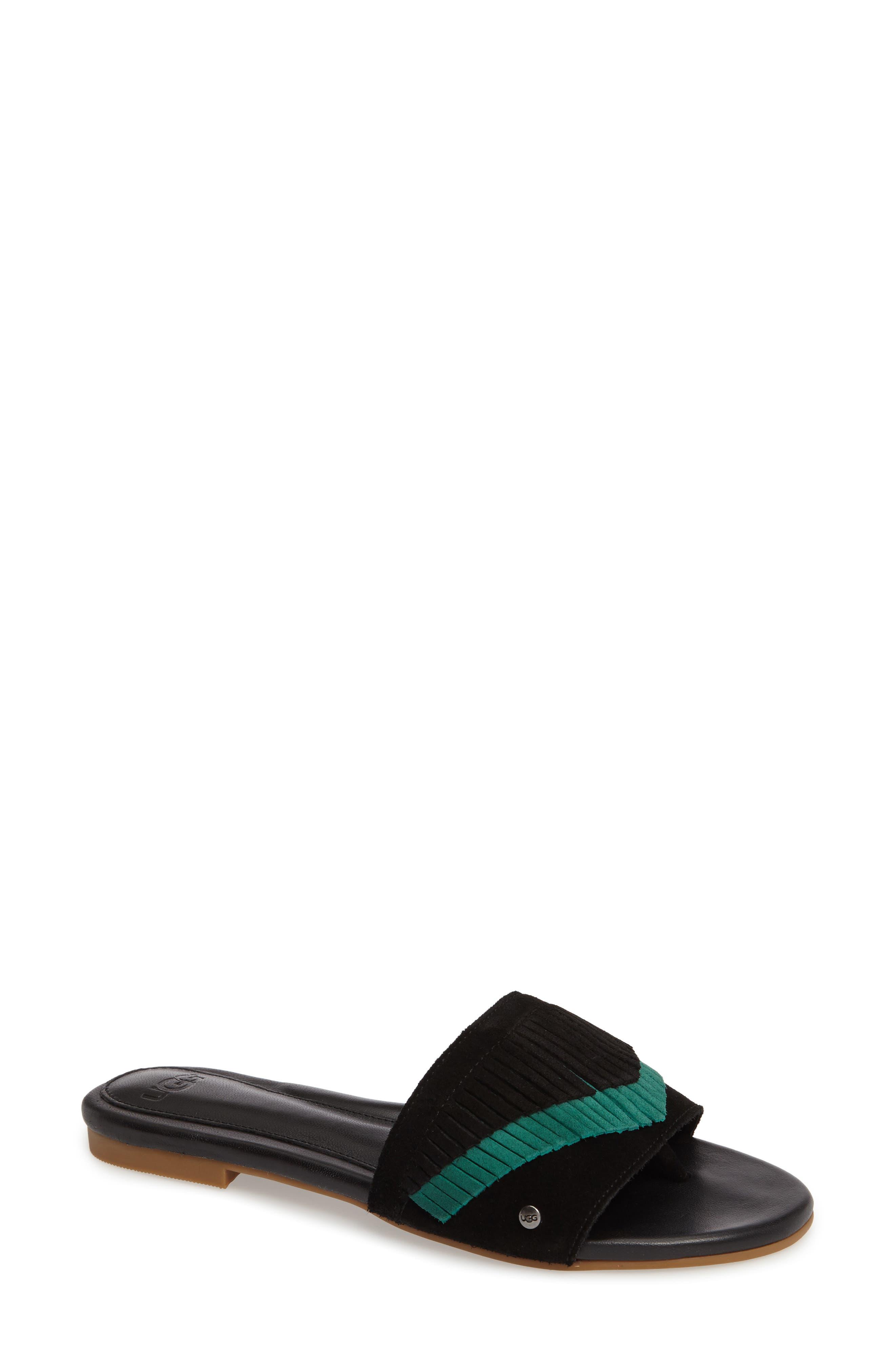 UGG® Binx Fringe Slide Sandal (Women)