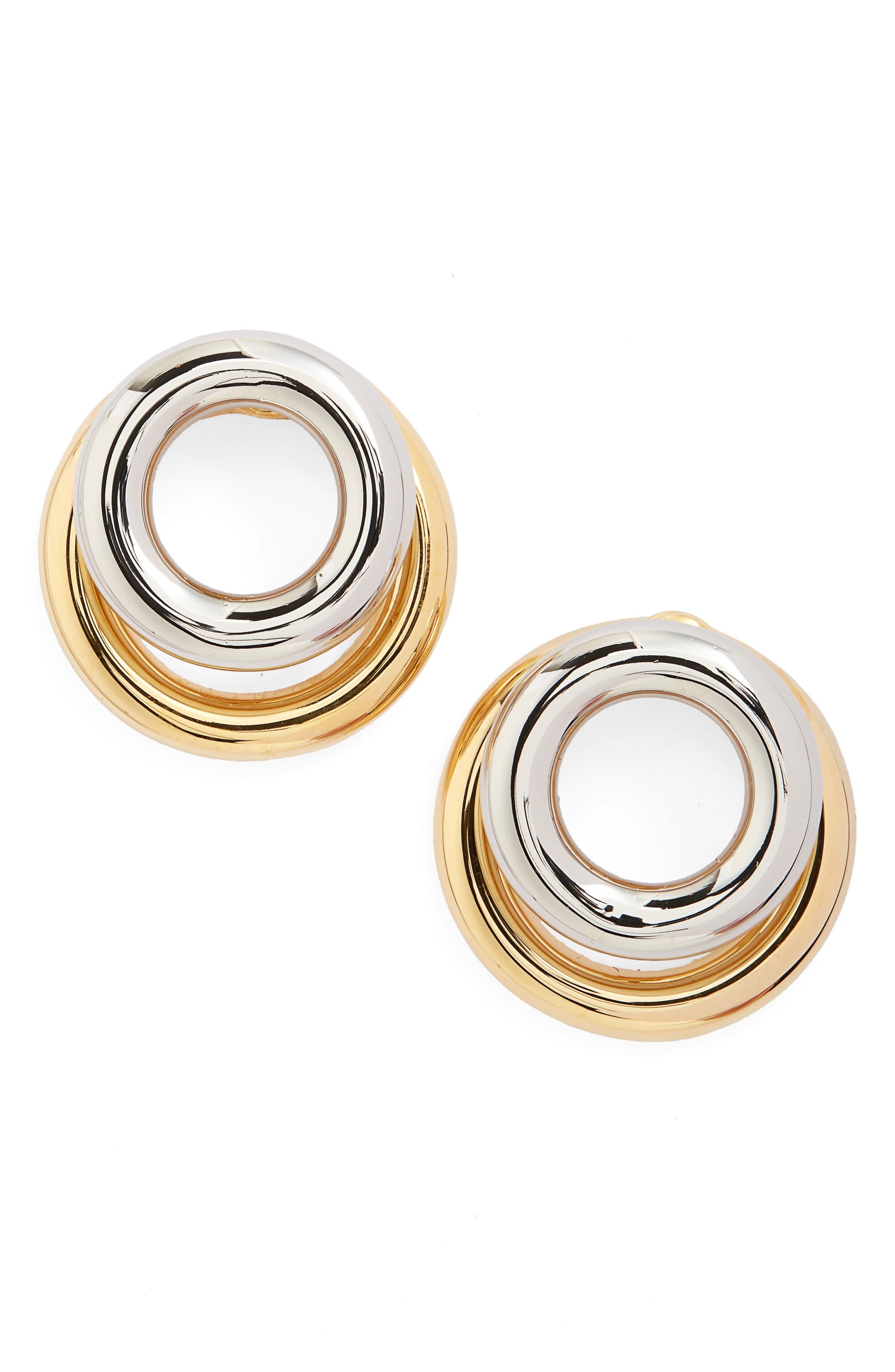 Alternate Image 1 Selected - Alexander Wang Double Hoop Stud Earrings